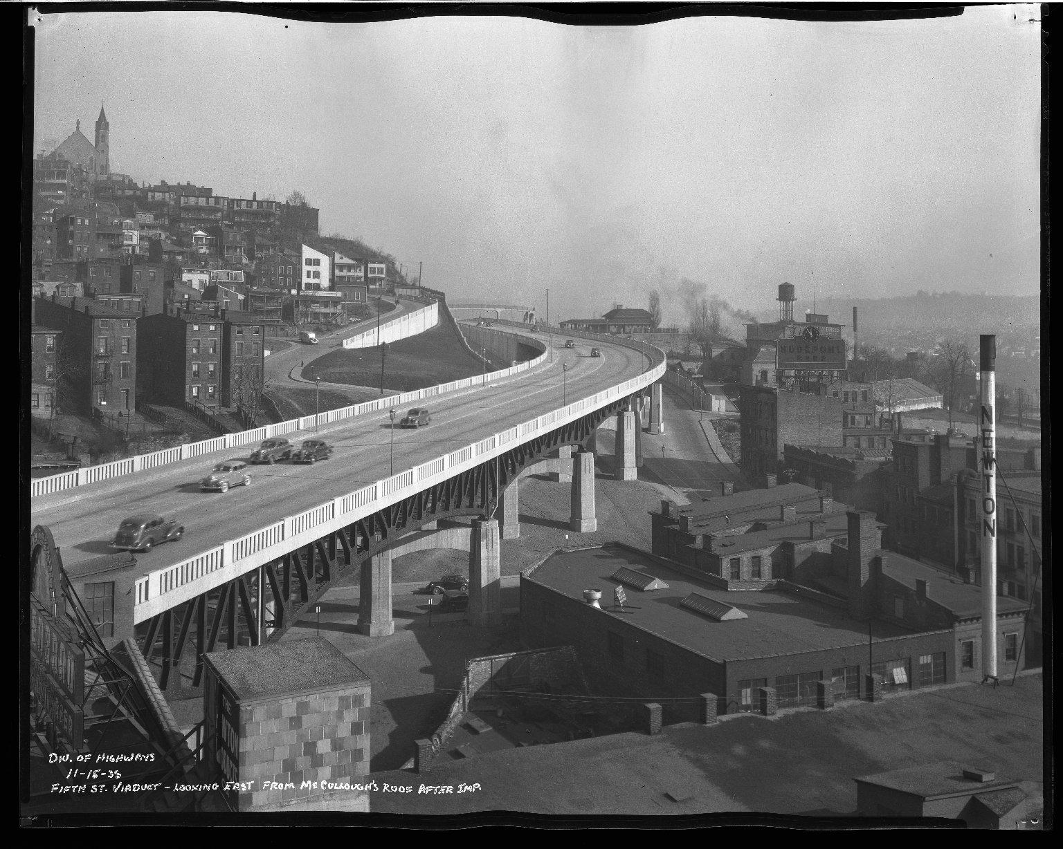 Street Improvement Photographs -- Box 35, Folder 36 (Fifth Street) -- negative, 1938-11-15