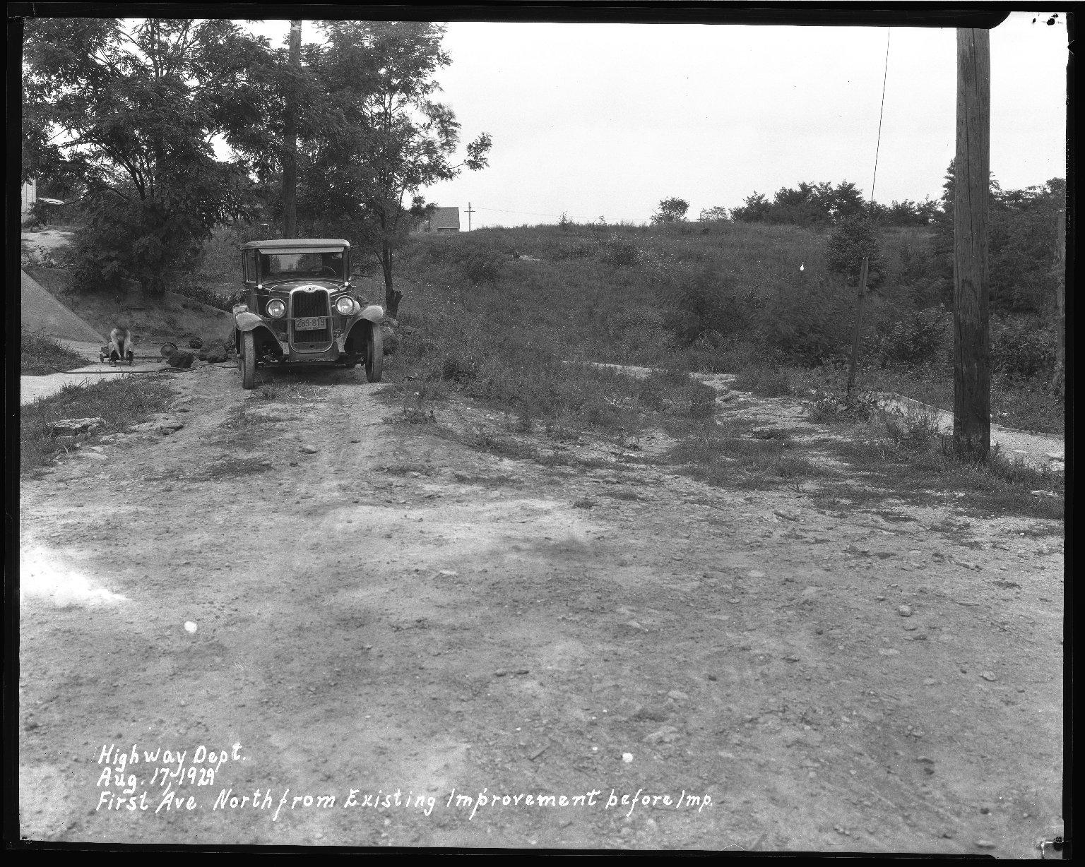 Street Improvement Photographs -- Box 35, Folder 39 (First Street) -- negative, 1930-09-18