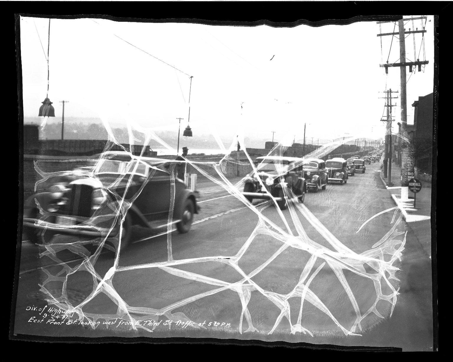 Street Improvement Photographs -- Box 35, Folder 56 (Front Street) -- negative, 1937-09-24