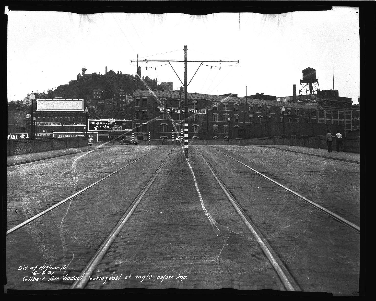 Street Improvement Photographs -- Box 36, Folder 05 (Gilbert Avenue) -- negative, 1937-06-16