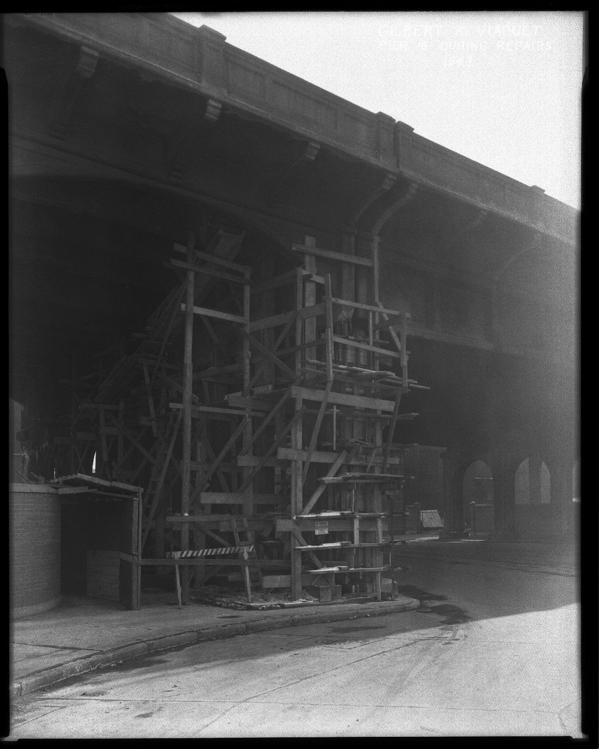 Street Improvement Photographs -- Box 36, Folder 10 (Gilbert Avenue Viaduct) -- negative, 1944