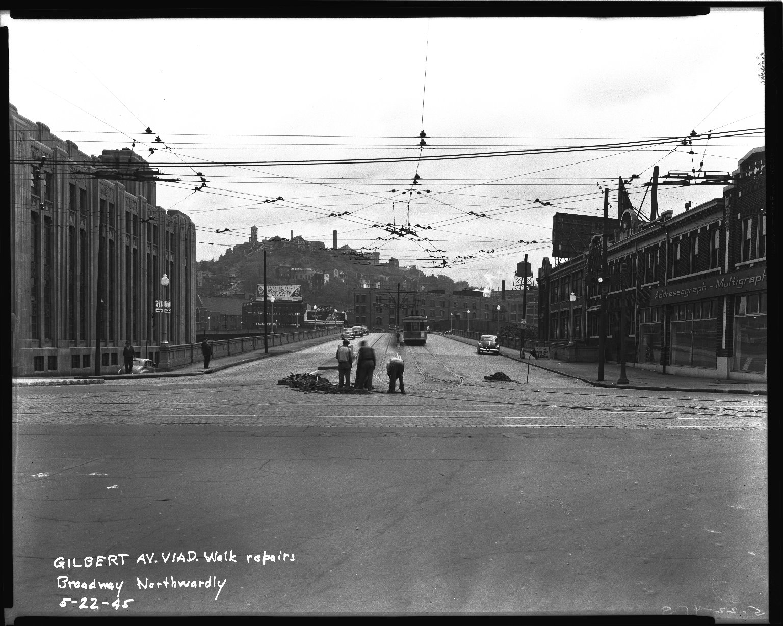 Street Improvement Photographs -- Box 36, Folder 11 (Gilbert Avenue Viaduct) -- negative, 1945-05-22