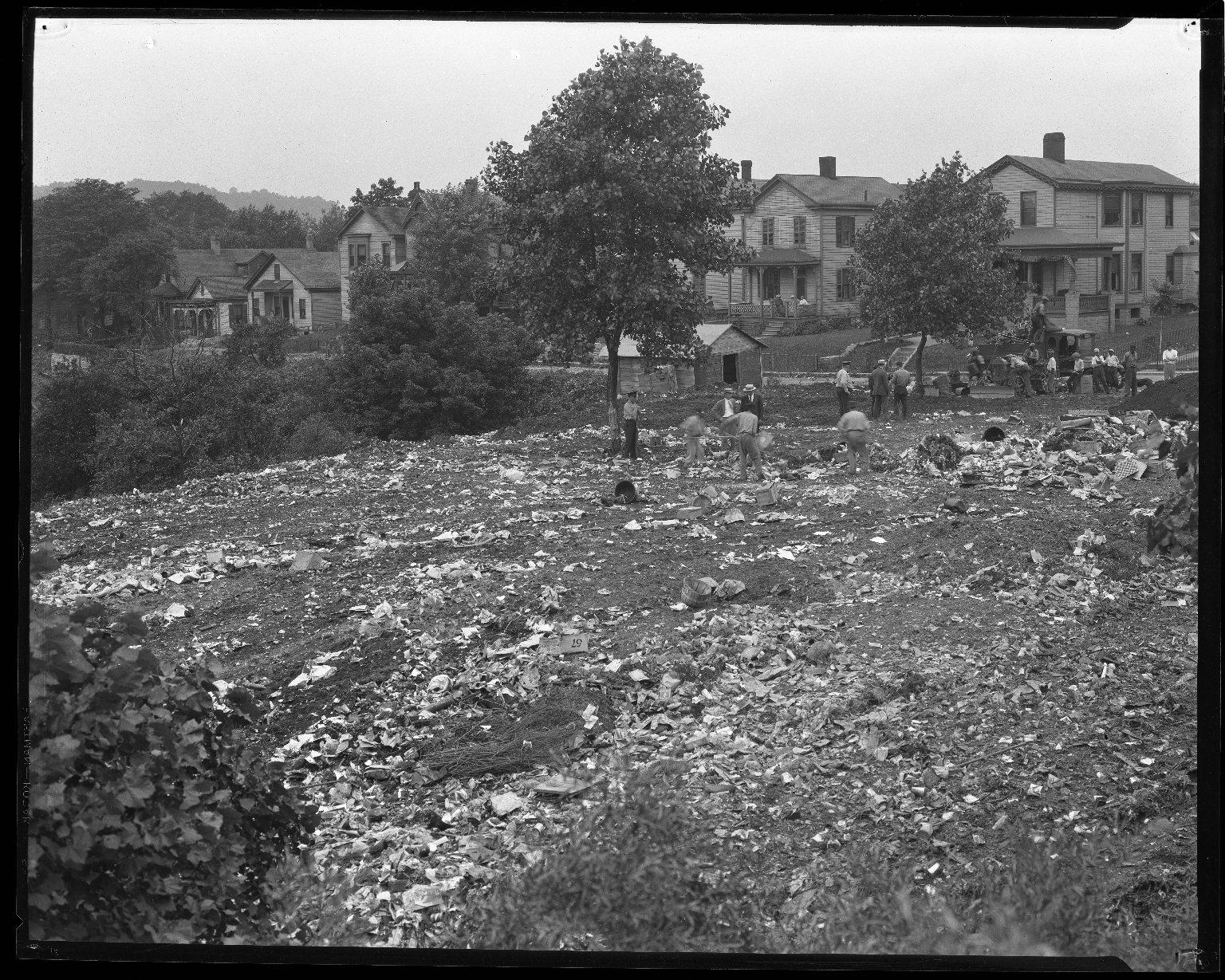 Street Improvement Photographs -- Box 36, Folder 30 (Grandin Road Viaduct) -- negative, 1930