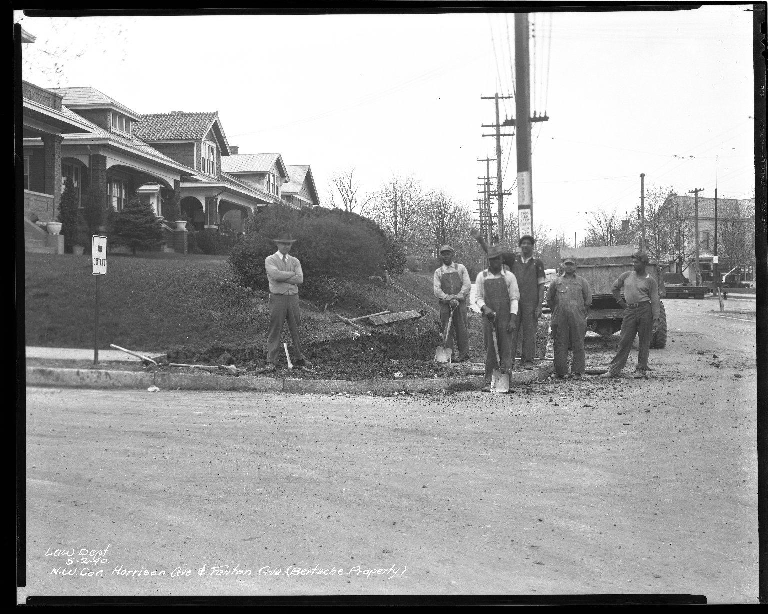 Street Improvement Photographs -- Box 36, Folder 46 (Harrison Avenue) -- negative, 1940-05-02