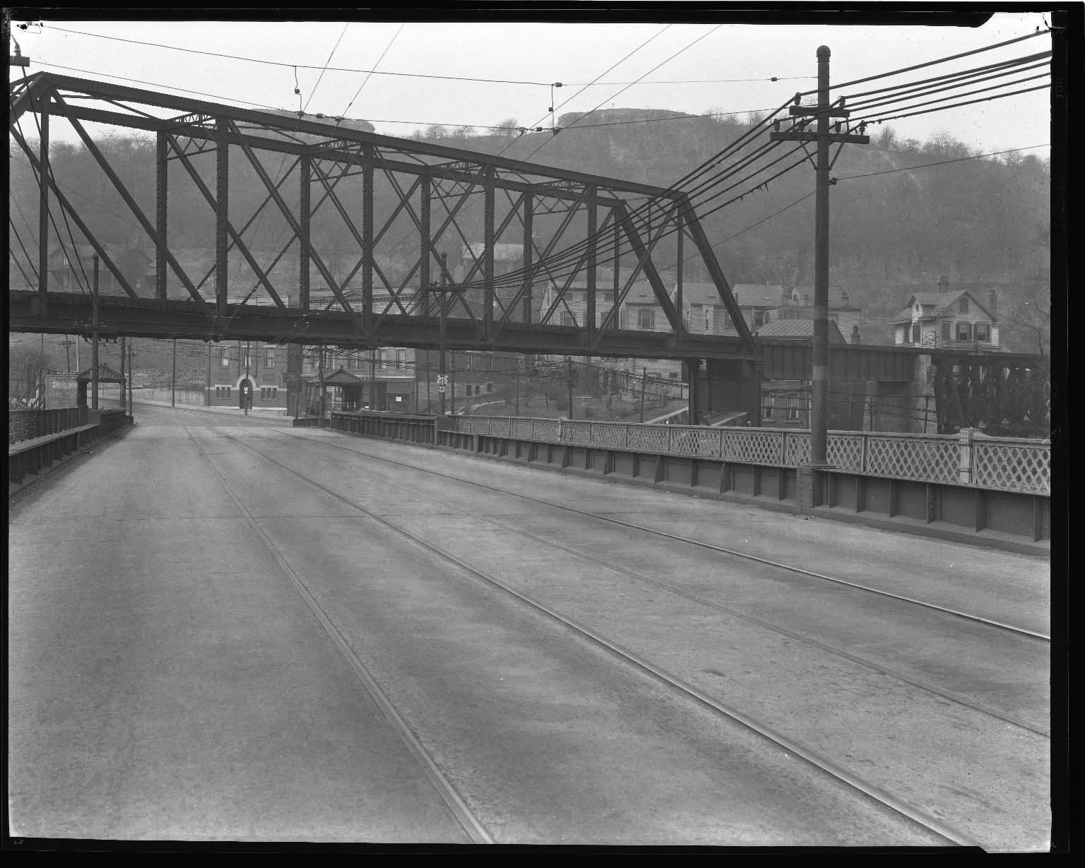 Street Improvement Photographs -- Box 36, Folder 53 (Harrison Avenue Viaduct) -- negative, 1927