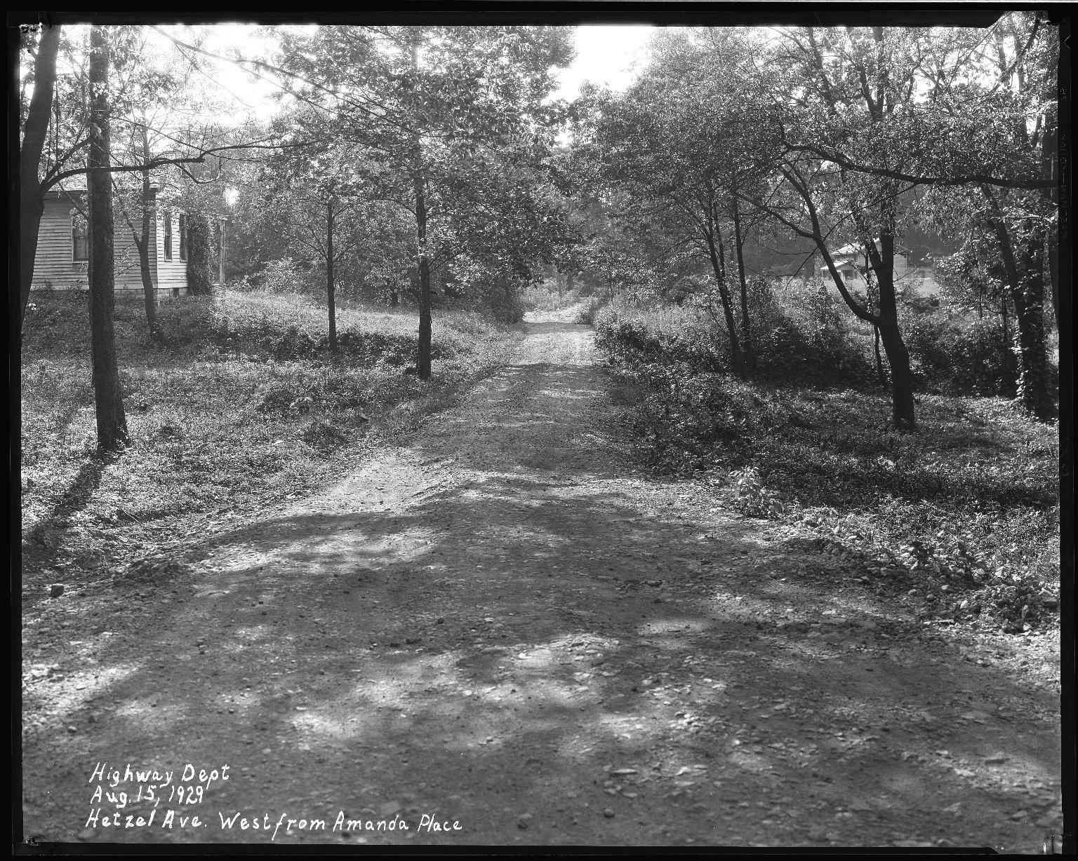 Street Improvement Photographs -- Box 37, Folder 09 (Hetzel Street) -- negative, 1929-08-15