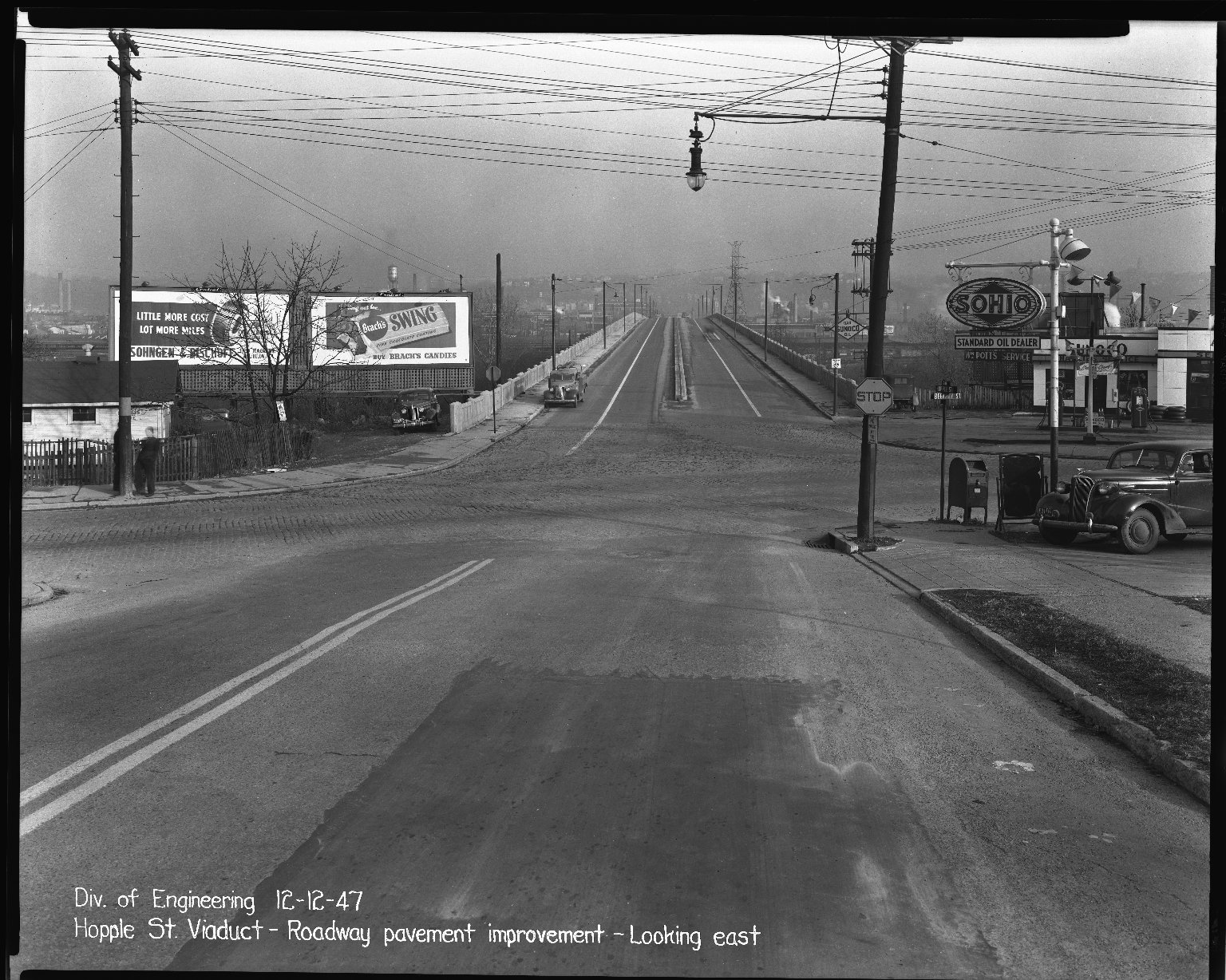 Street Improvement Photographs -- Box 37, Folder 28 (Hopple Street Viaduct) -- negative, 1947-12-12