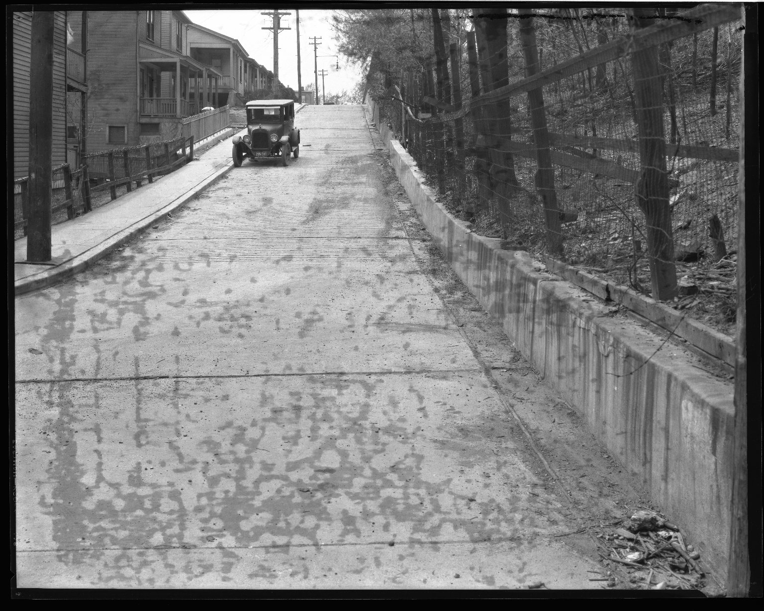 Street Improvement Photographs -- Box 37, Folder 34 (Inwood Place) -- negative, 1927