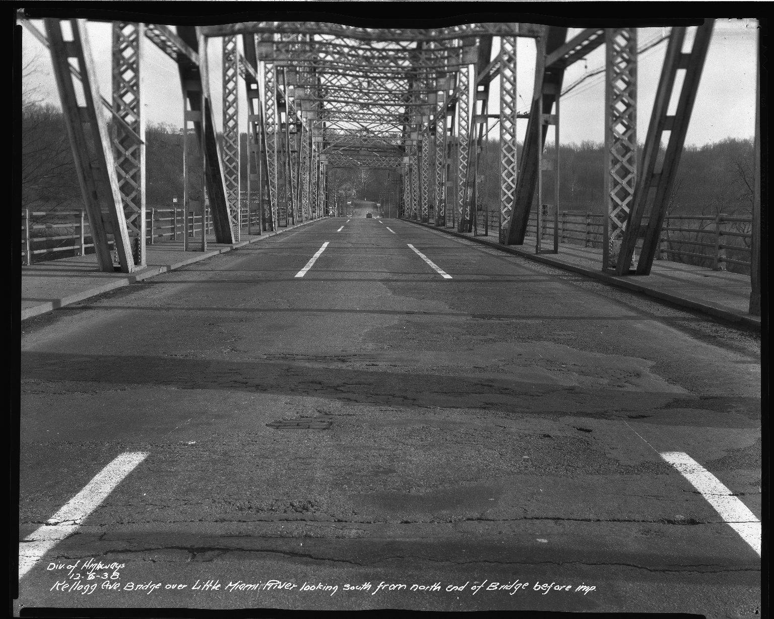 Street Improvement Photographs -- Box 37, Folder 56 (Kellogg Avenue Bridge) -- negative, 1938-12-06