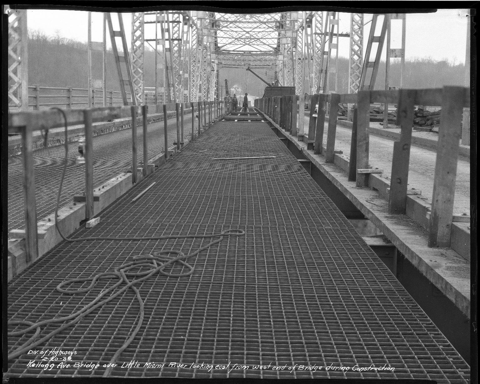 Street Improvement Photographs -- Box 37, Folder 56 (Kellogg Avenue Bridge) -- negative, 1939-02-20