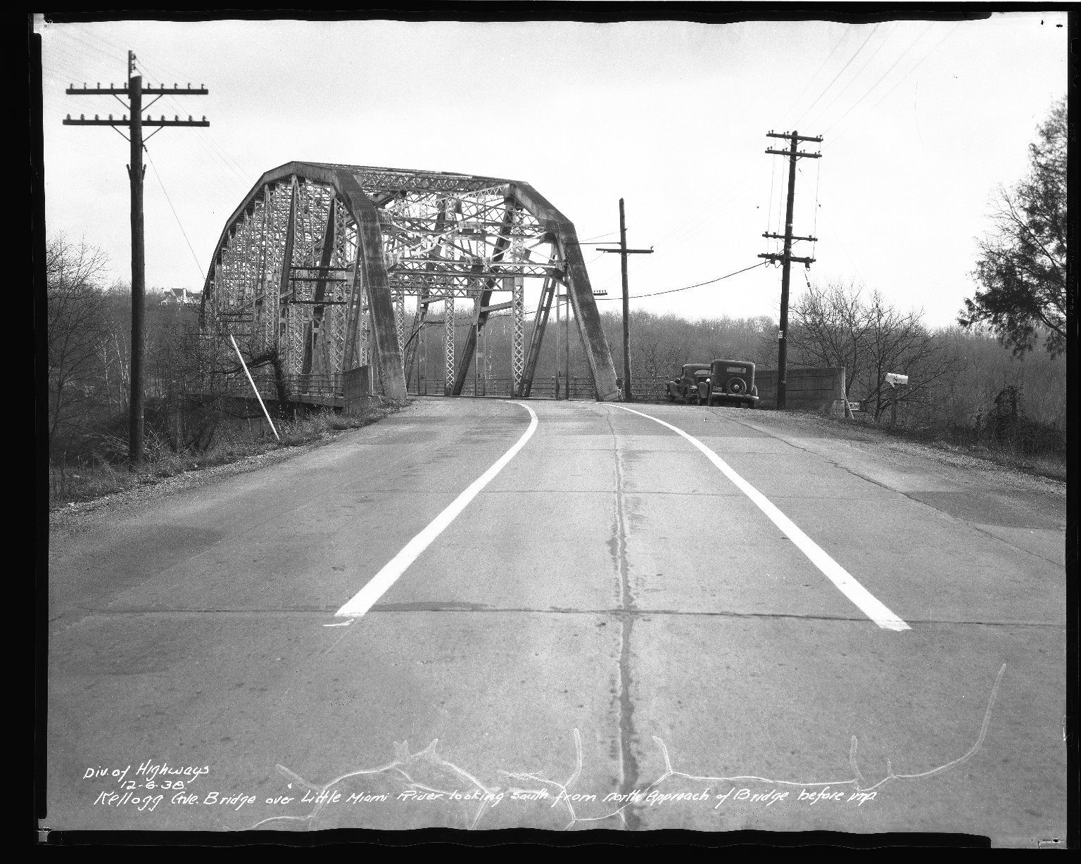 Street Improvement Photographs -- Box 37, Folder 59 (Kellogg Avenue Bridge) -- negative, 1938-12-06