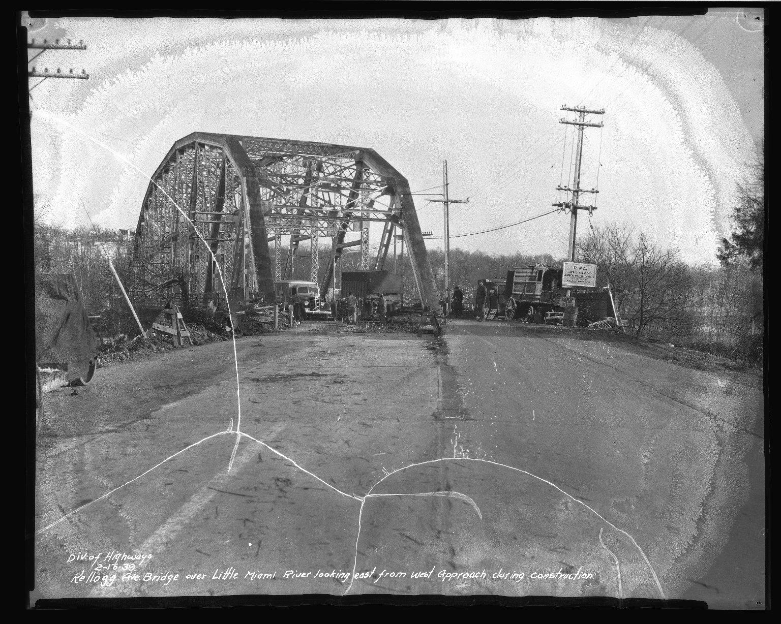 Street Improvement Photographs -- Box 37, Folder 59 (Kellogg Avenue Bridge) -- negative, 1939-02-16