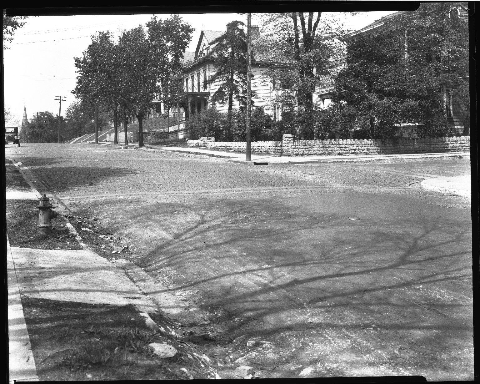 Street Improvement Photographs -- Box 37, Folder 60 (Kemper Lane) -- negative, 1927
