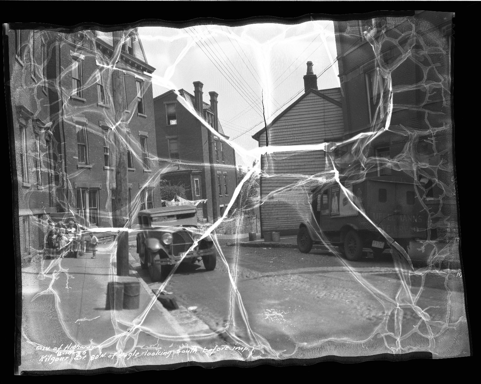 Street Improvement Photographs -- Box 38, Folder 07 (Kilgour Street) -- negative, 1936-08-10