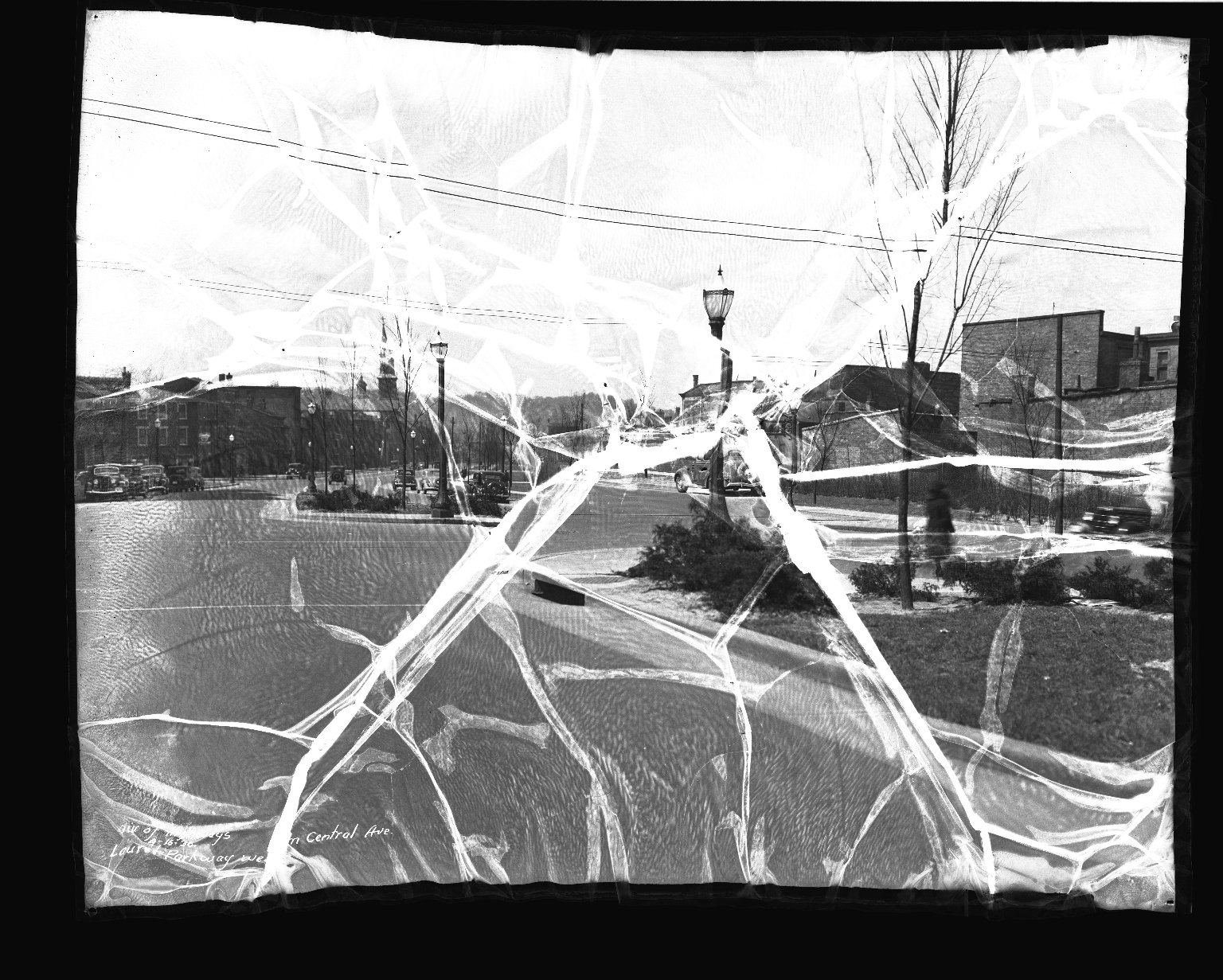 Street Improvement Photographs -- Box 38, Folder 43 (Laurel Parkway) -- negative, 1936-04-16