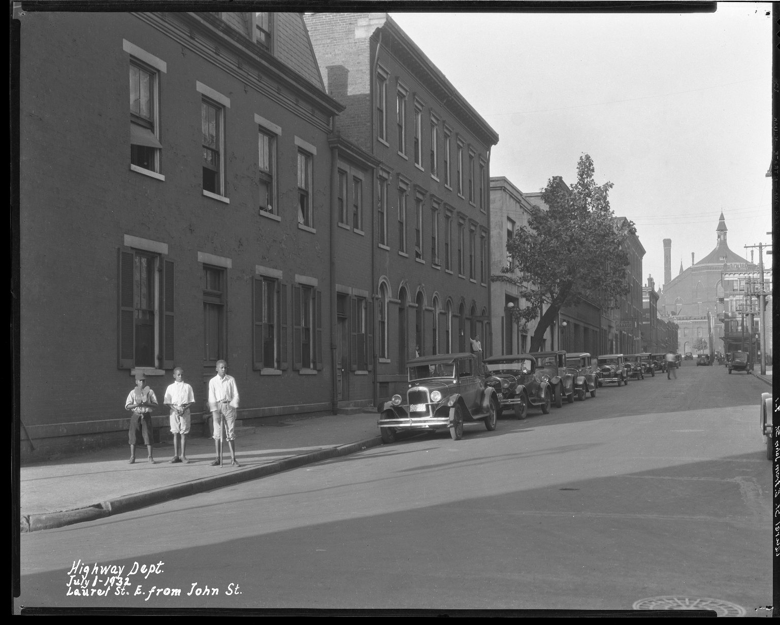 Street Improvement Photographs -- Box 38, Folder 46 (Laurel Parkway) -- negative, 1932-07-01