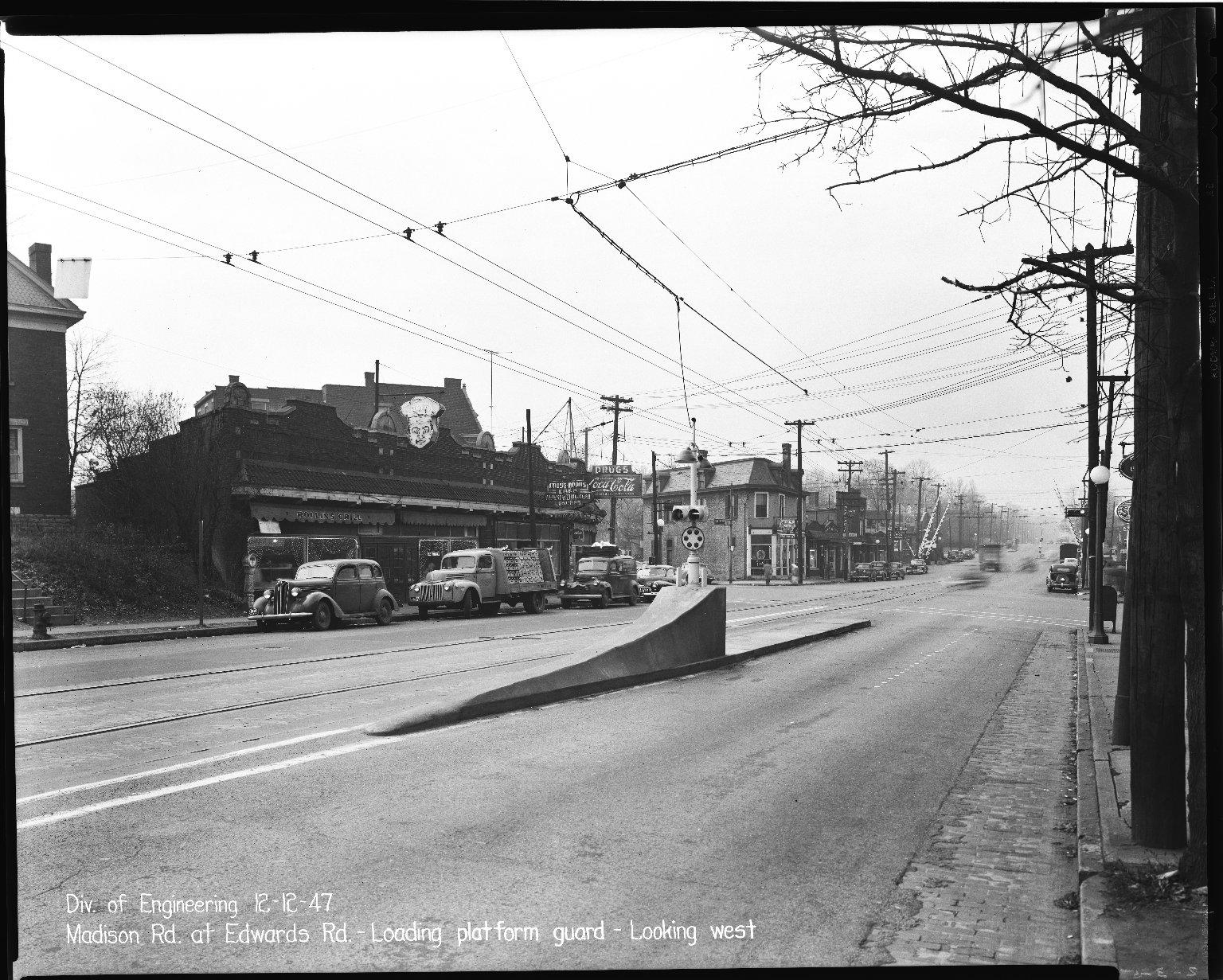 Street Improvement Photographs -- Box 40, Folder 07 (Madison Road) -- negative, 1947-12-12