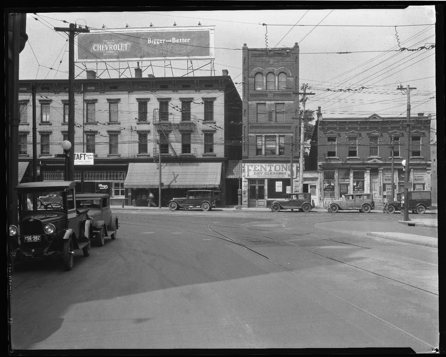 Street Improvement Photographs -- Box 40, Folder 08 (Madison Road) -- negative, 1928