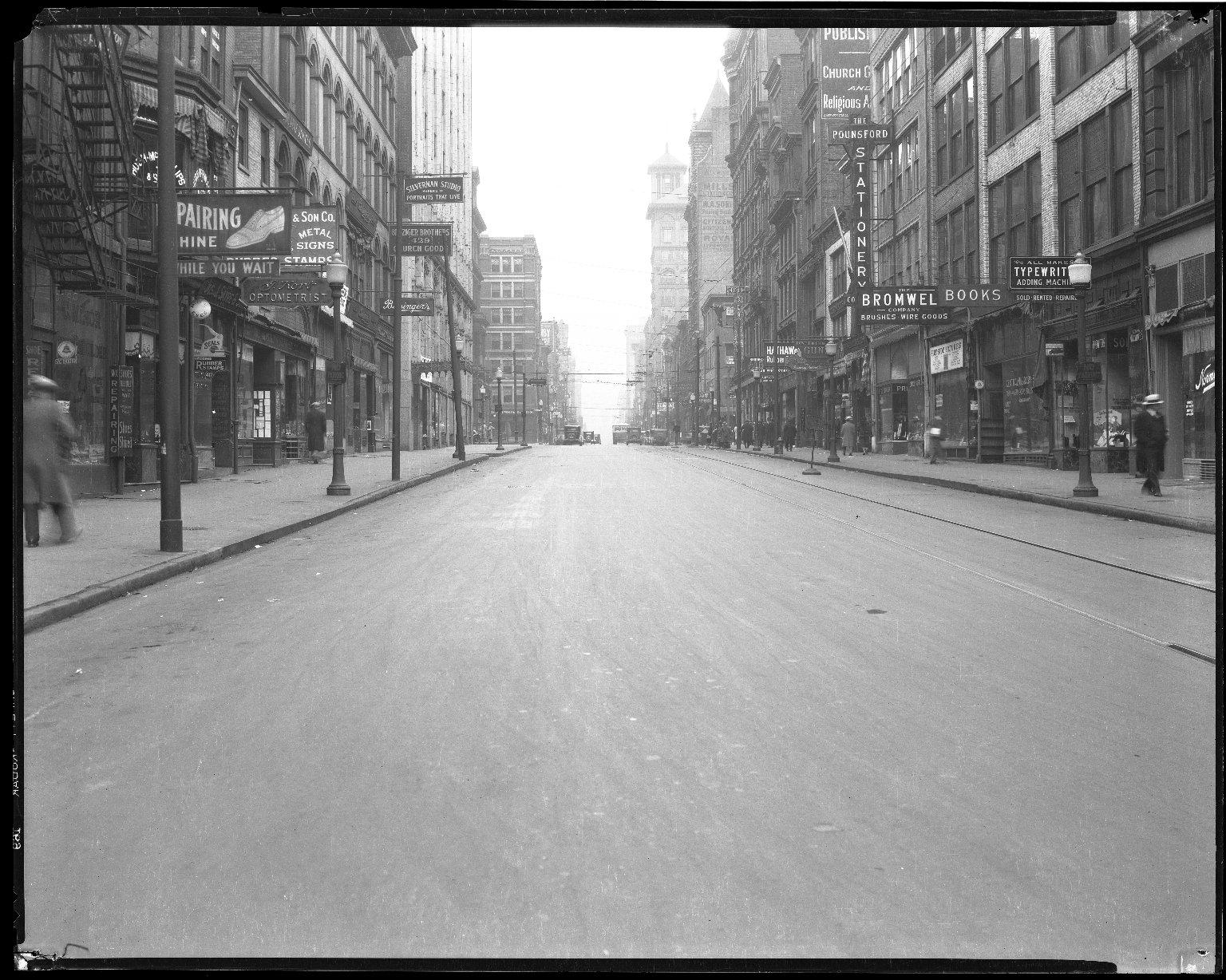 Street Improvement Photographs -- Box 40, Folder 16 (Main Street) -- negative, 1930