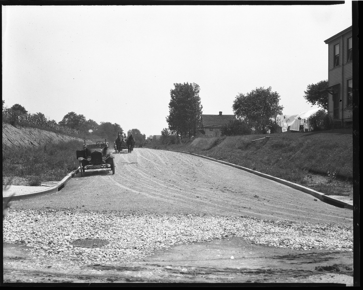 Street Improvement Photographs -- Box 40, Folder 21 (Mapleleaf Avenue) -- negative, 1928
