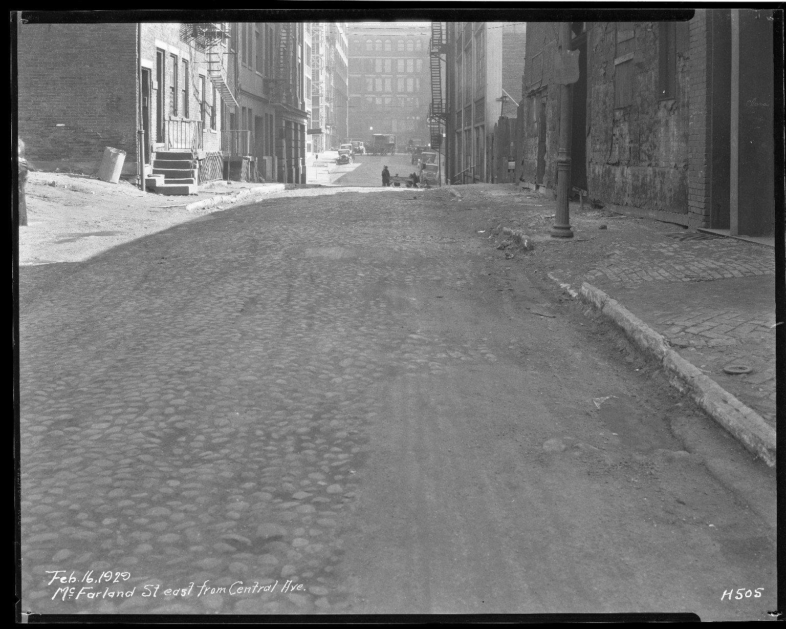 Street Improvement Photographs -- Box 40, Folder 39 (McFarland Street) -- negative, 1929-02-16