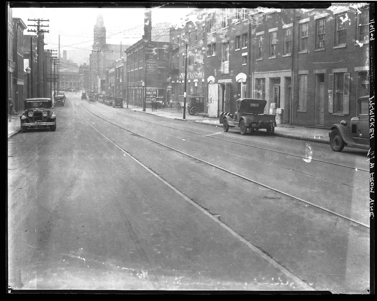Street Improvement Photographs -- Box 40, Folder 44 (McMicken Avenue) -- negative, 1929-01-21
