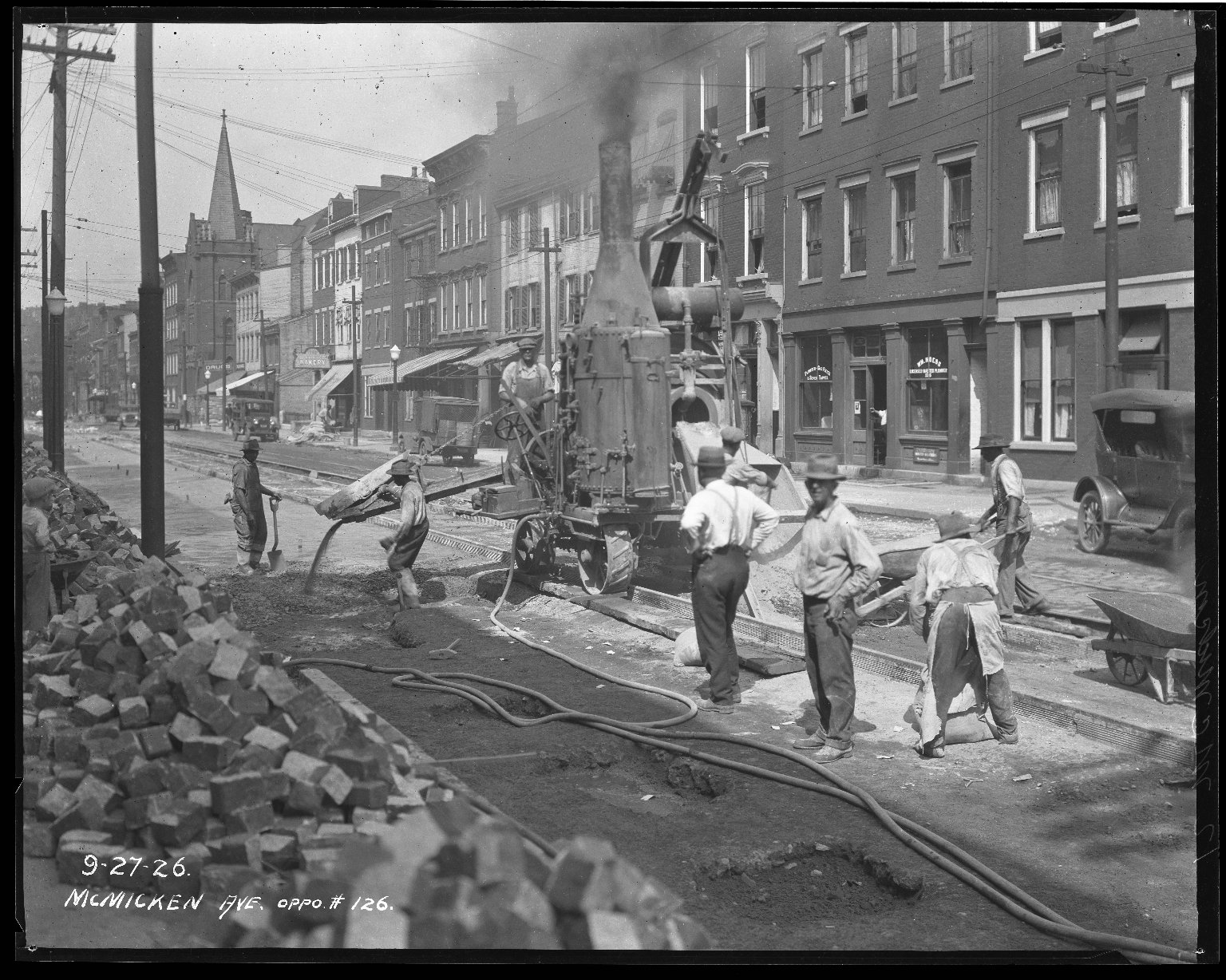 Street Improvement Photographs -- Box 40, Folder 45 (McMicken Avenue) -- negative, 1926-09-27