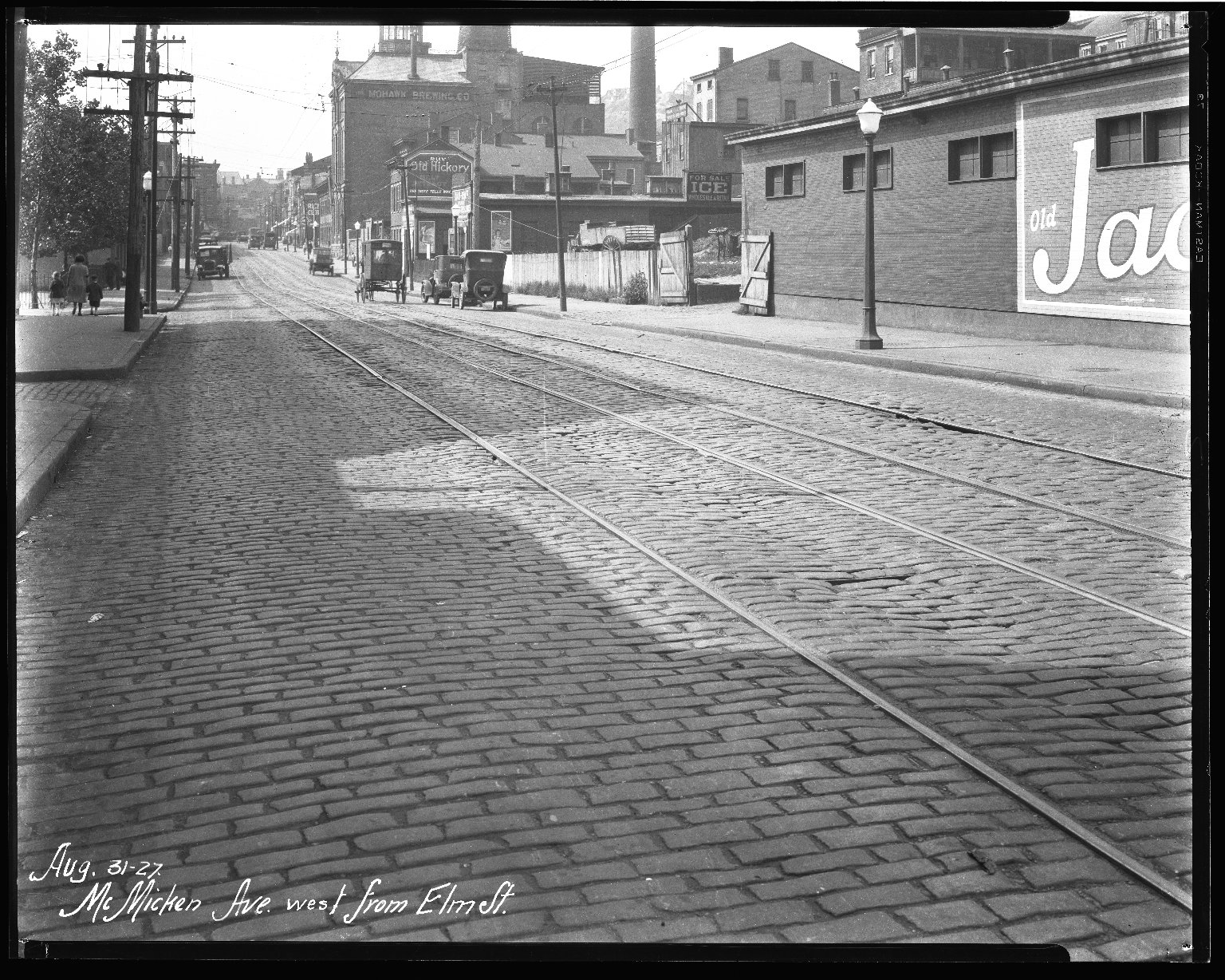 Street Improvement Photographs -- Box 40, Folder 45 (McMicken Avenue) -- negative, 1927-08-31