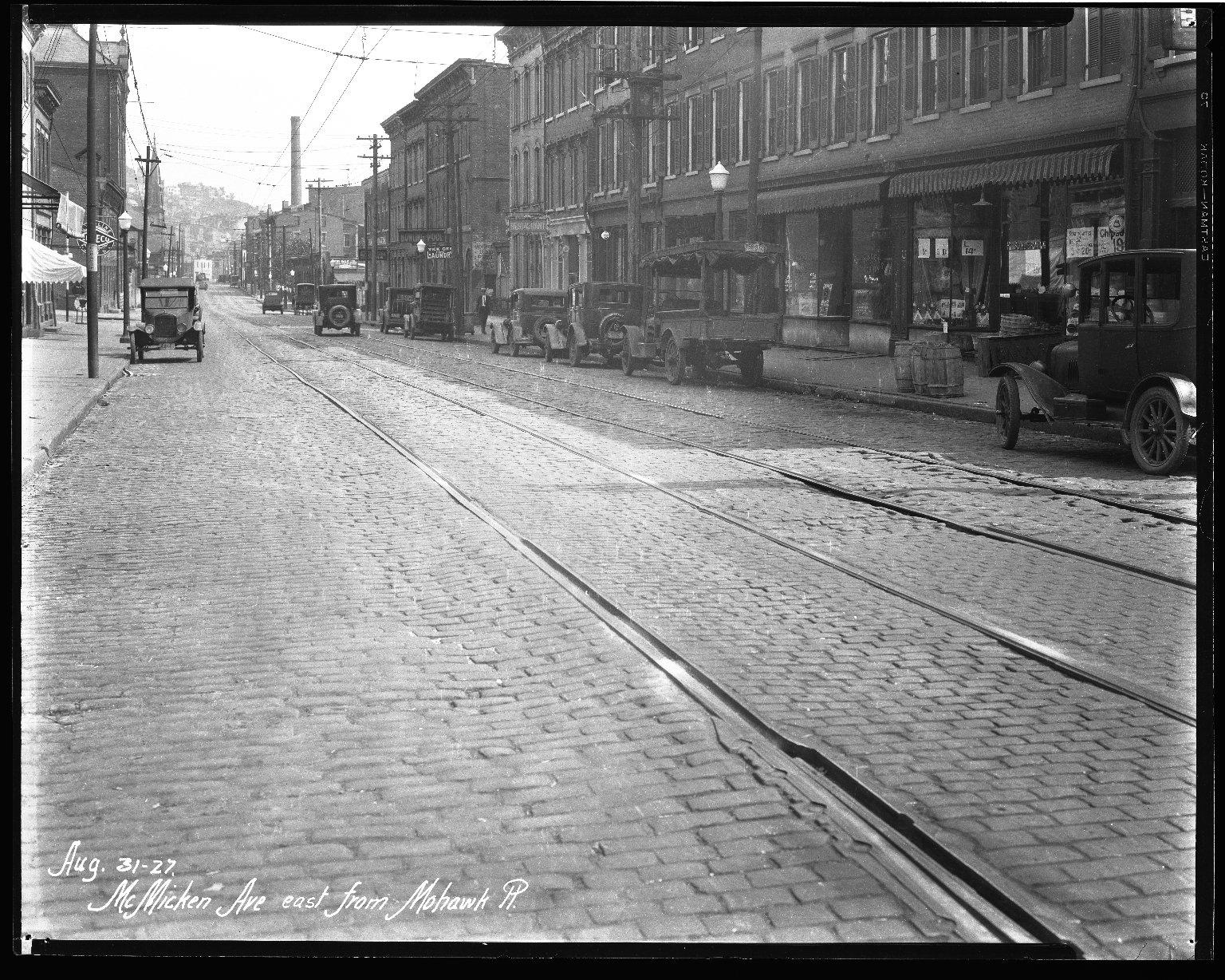 Street Improvement Photographs -- Box 40, Folder 45 (McMicken Avenue) -- negative, 1927-08-31