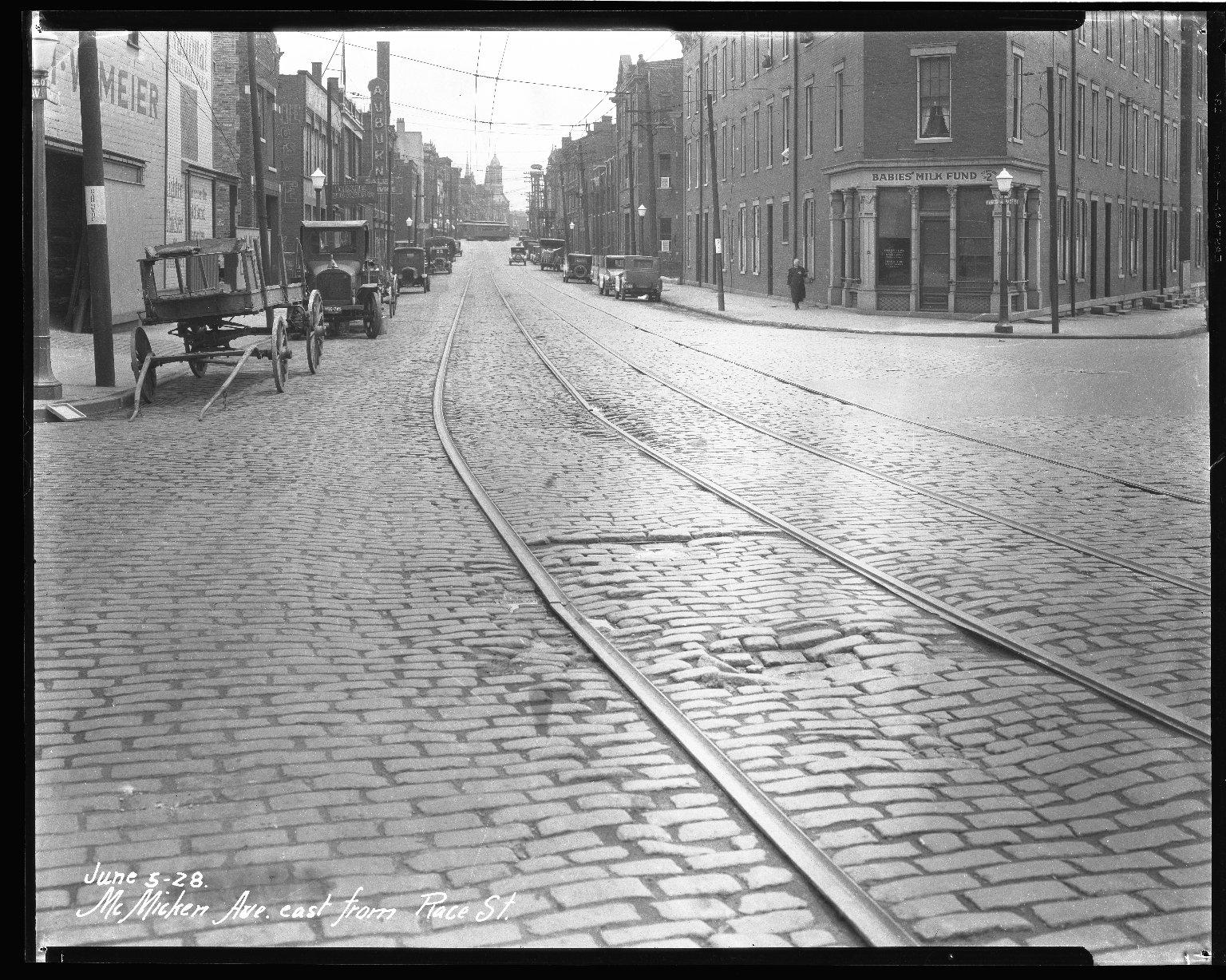 Street Improvement Photographs -- Box 40, Folder 45 (McMicken Avenue) -- negative, 1928-06-05