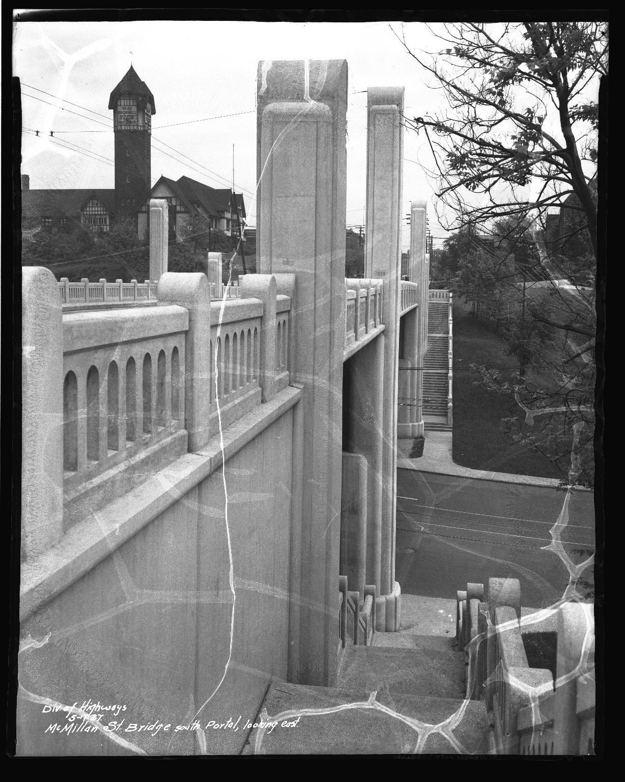 Street Improvement Photographs -- Box 41, Folder 06 (McMillan Street Bridge) -- negative, 1937-05-17