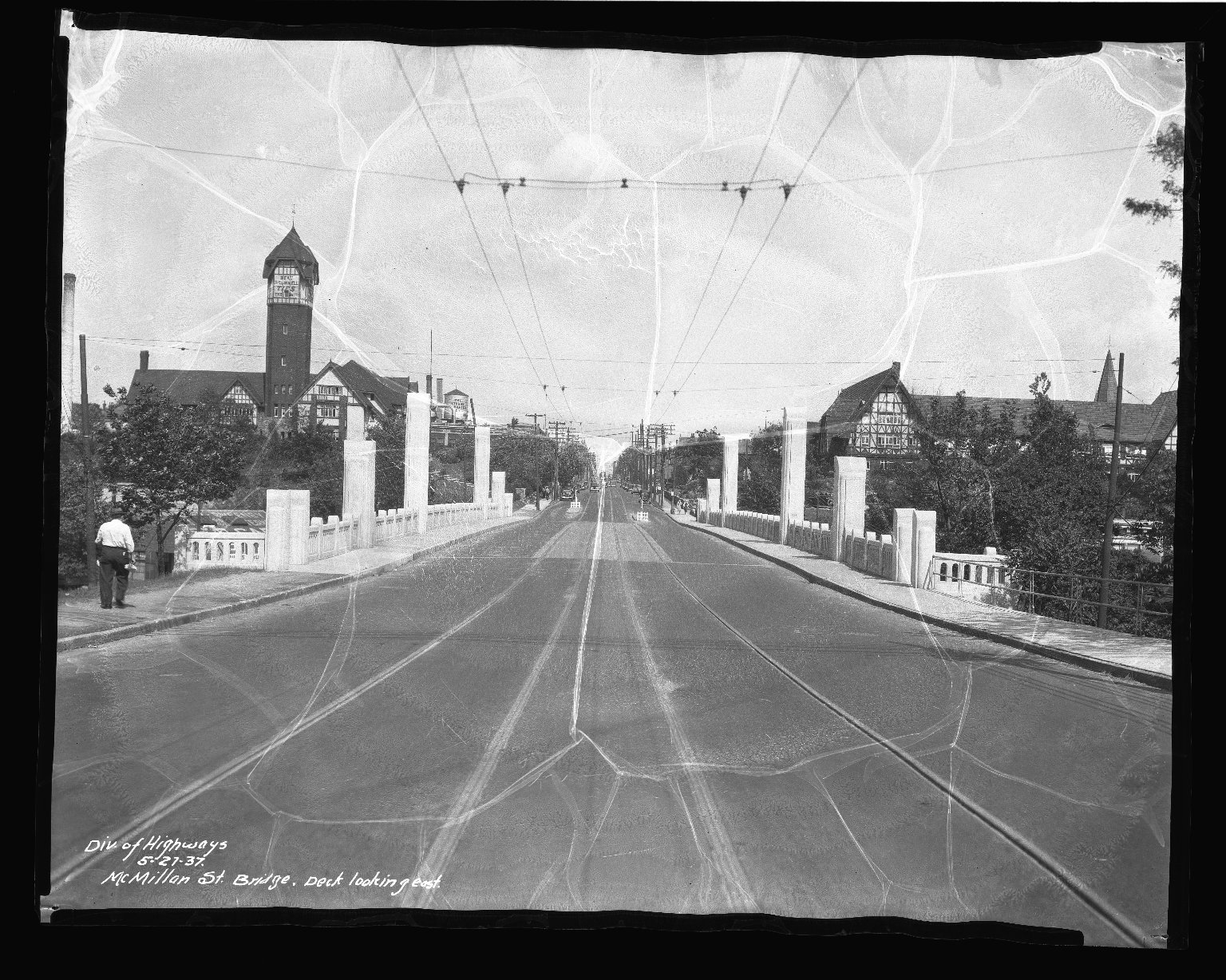 Street Improvement Photographs -- Box 41, Folder 07 (McMillan Street Bridge) -- negative, 1937-05-27