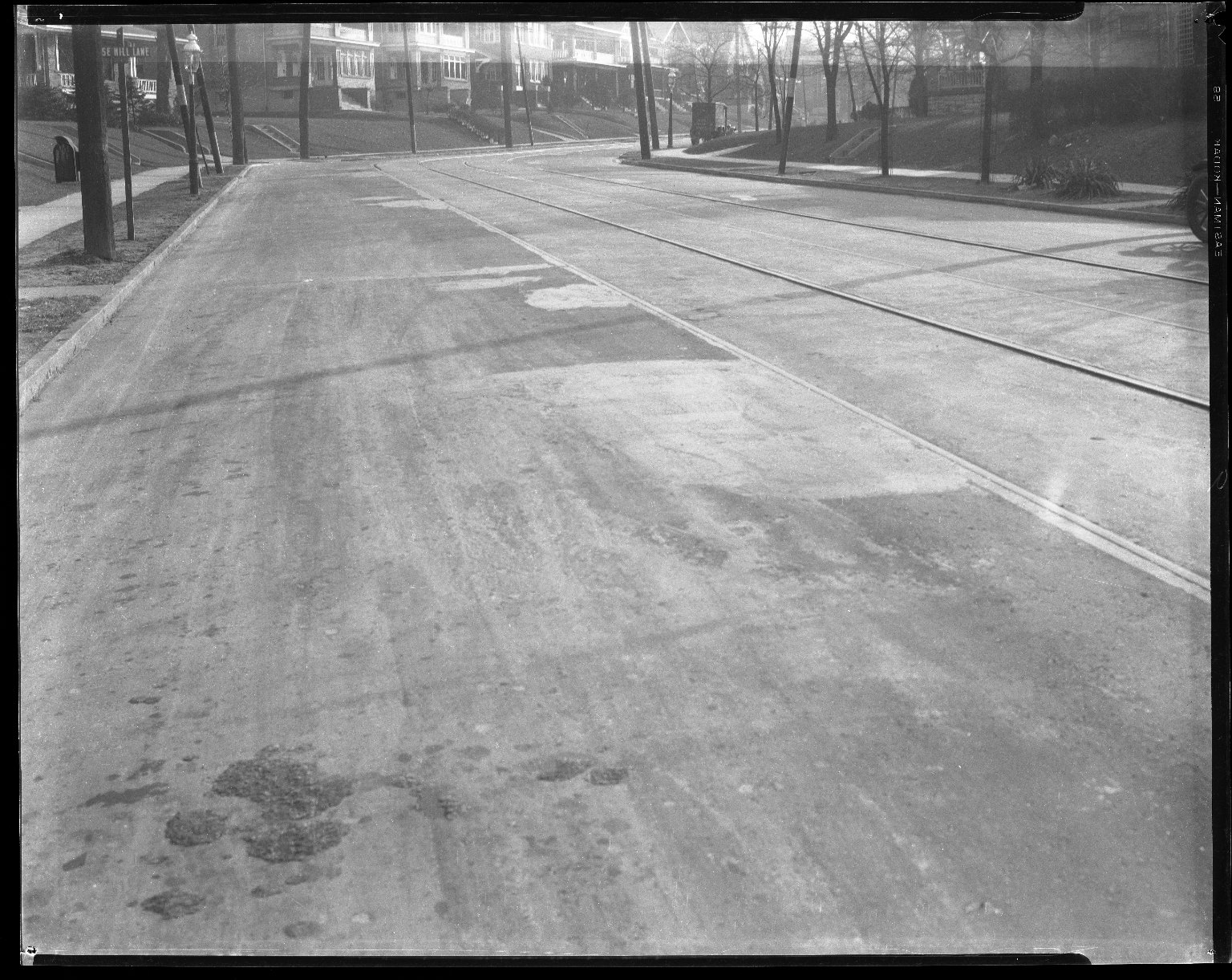 Street Improvement Photographs -- Box 41, Folder 22 (Mitchell Avenue) -- negative, 1927