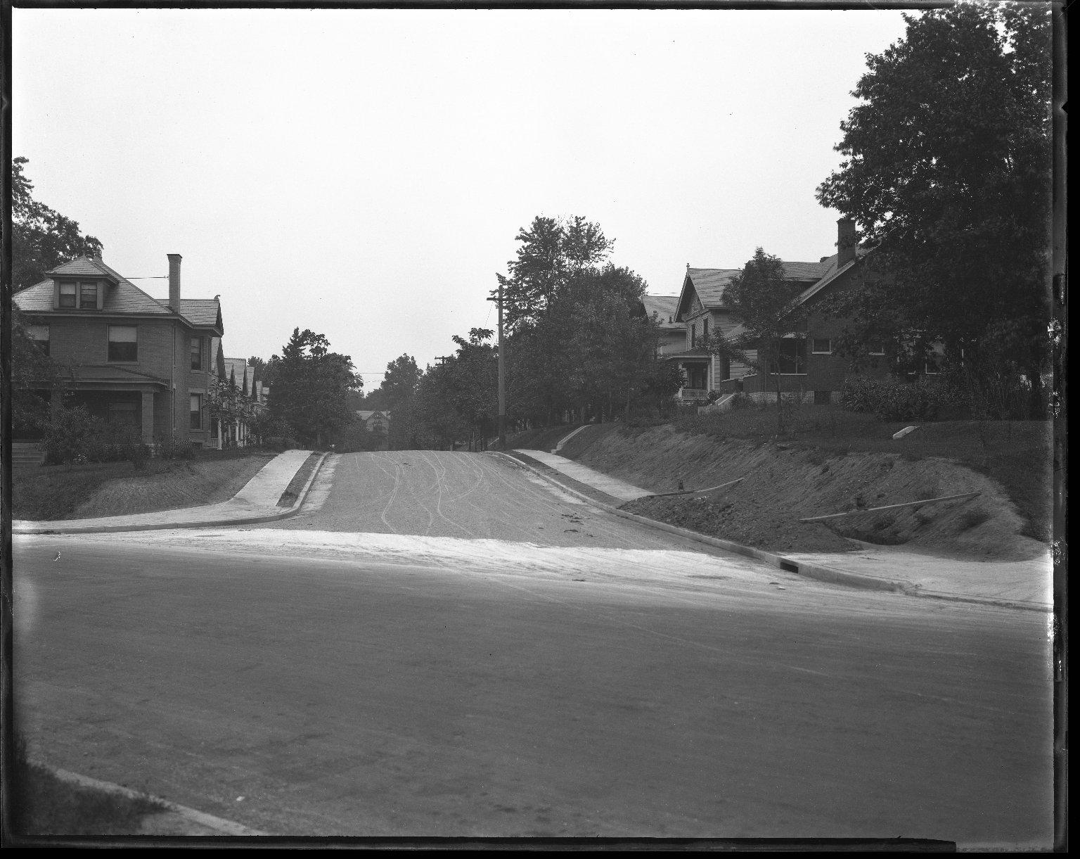 Street Improvement Photographs -- Box 42, Folder 01 (Monteith Avenue) -- negative, 1928