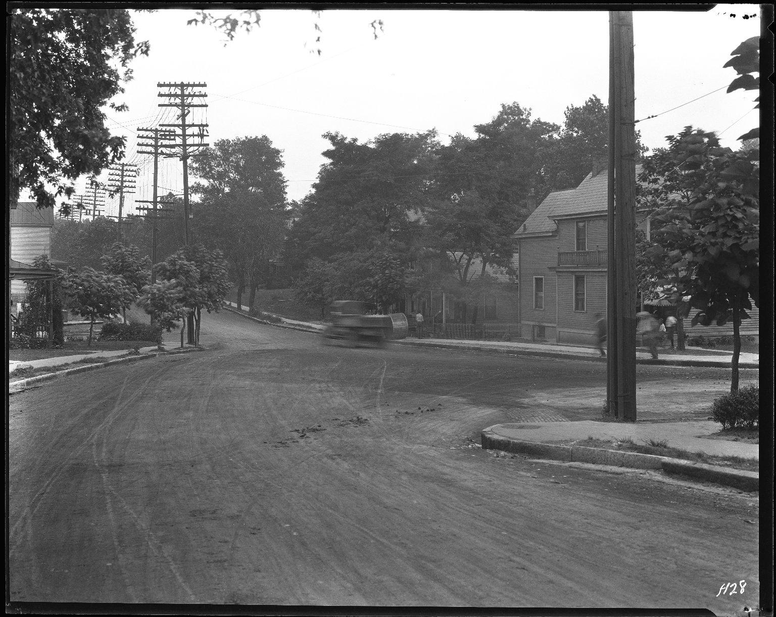 Street Improvement Photographs -- Box 42, Folder 10 (Myrtle Avenue) -- negative, 1928