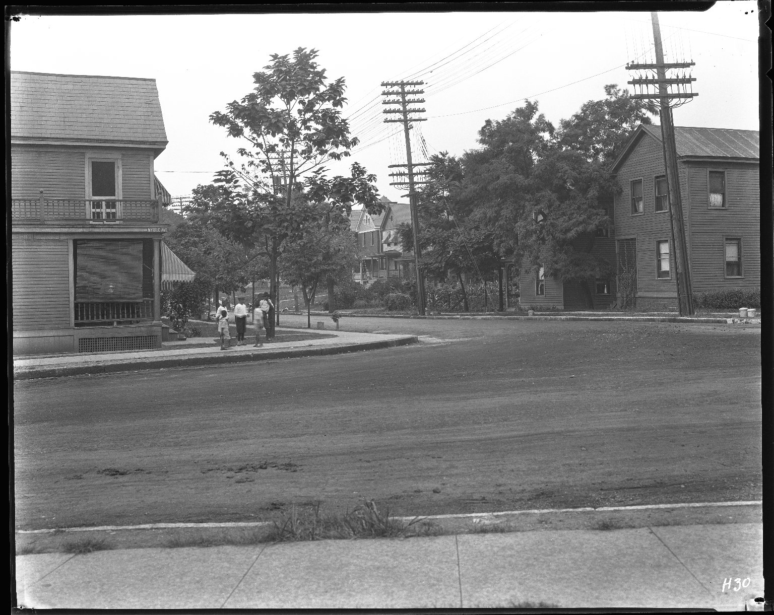 Street Improvement Photographs -- Box 42, Folder 10 (Myrtle Avenue) -- negative, 1928