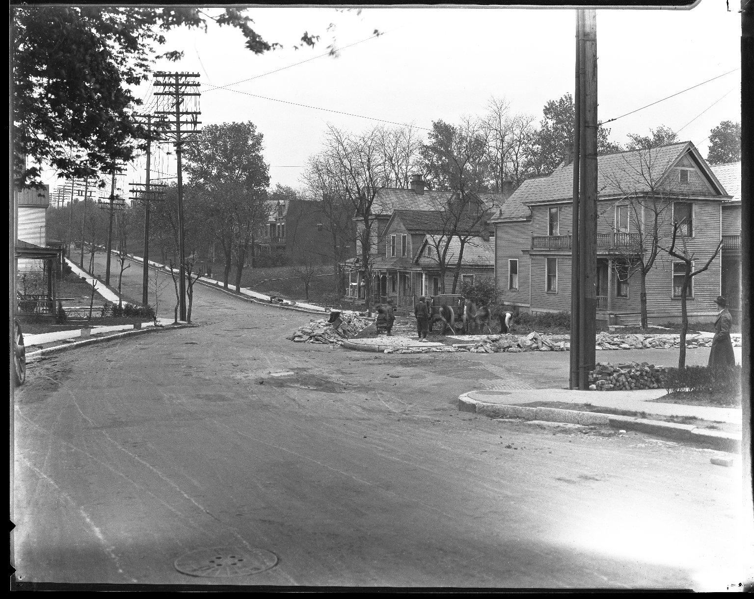 Street Improvement Photographs -- Box 42, Folder 11 (Myrtle Avenue) -- negative, 1928