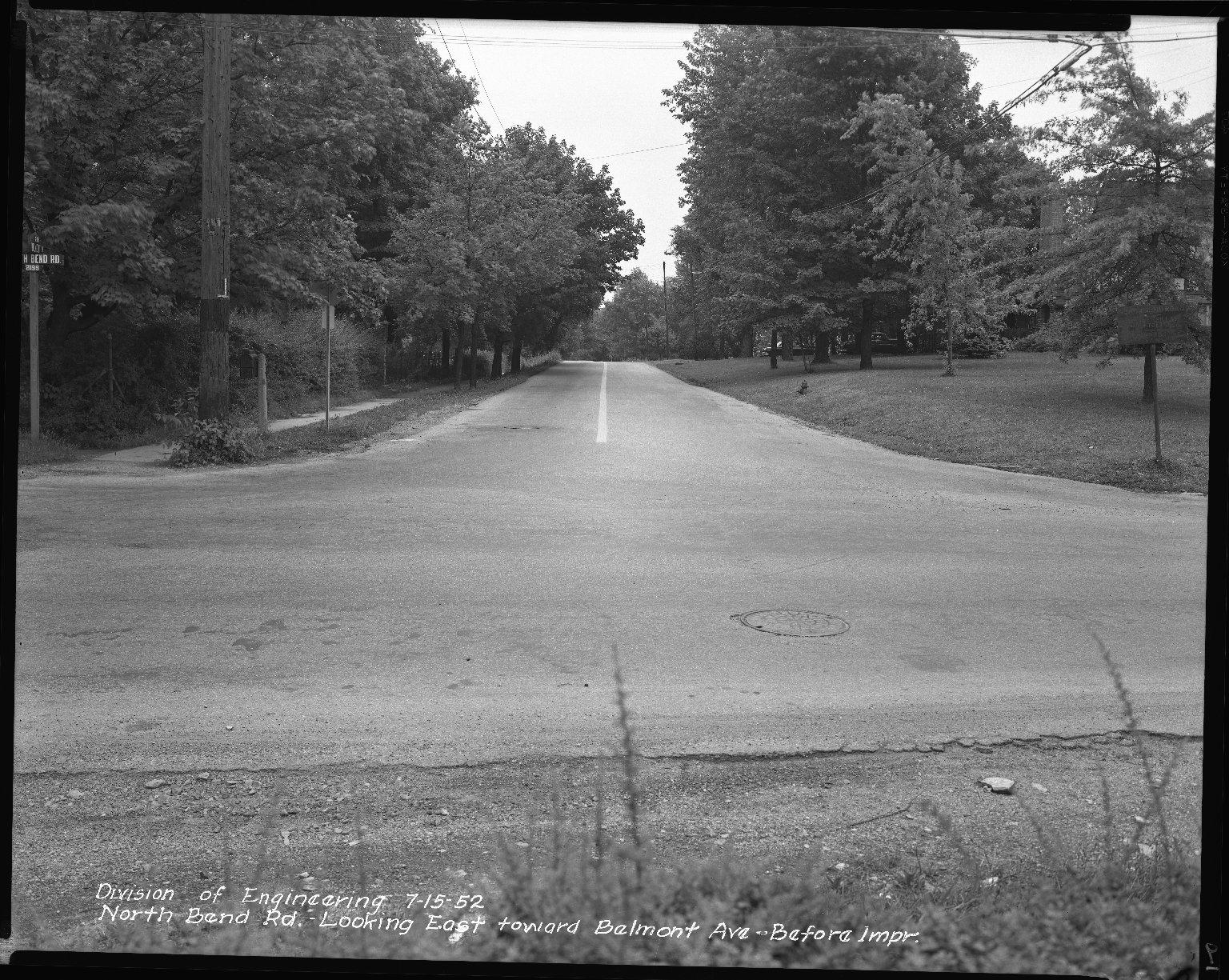 Street Improvement Photographs -- Box 42, Folder 31 (North Bend Road) -- negative, 1952-07-15