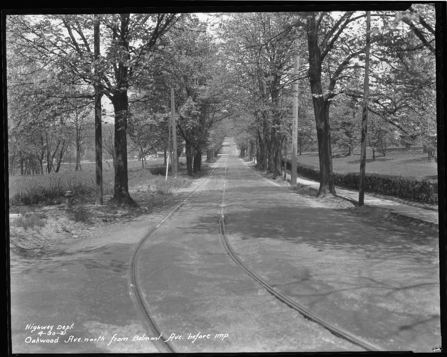 Street Improvement Photographs -- Box 42, Folder 42 (Oakwood Avenue) -- negative, 1931-04-30