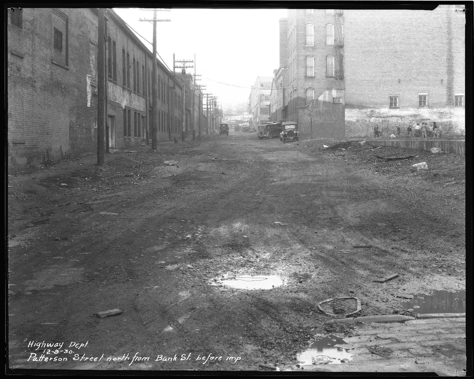 Street Improvement Photographs -- Box 43, Folder 02 (Patterson Street) -- negative, 1930-12-09