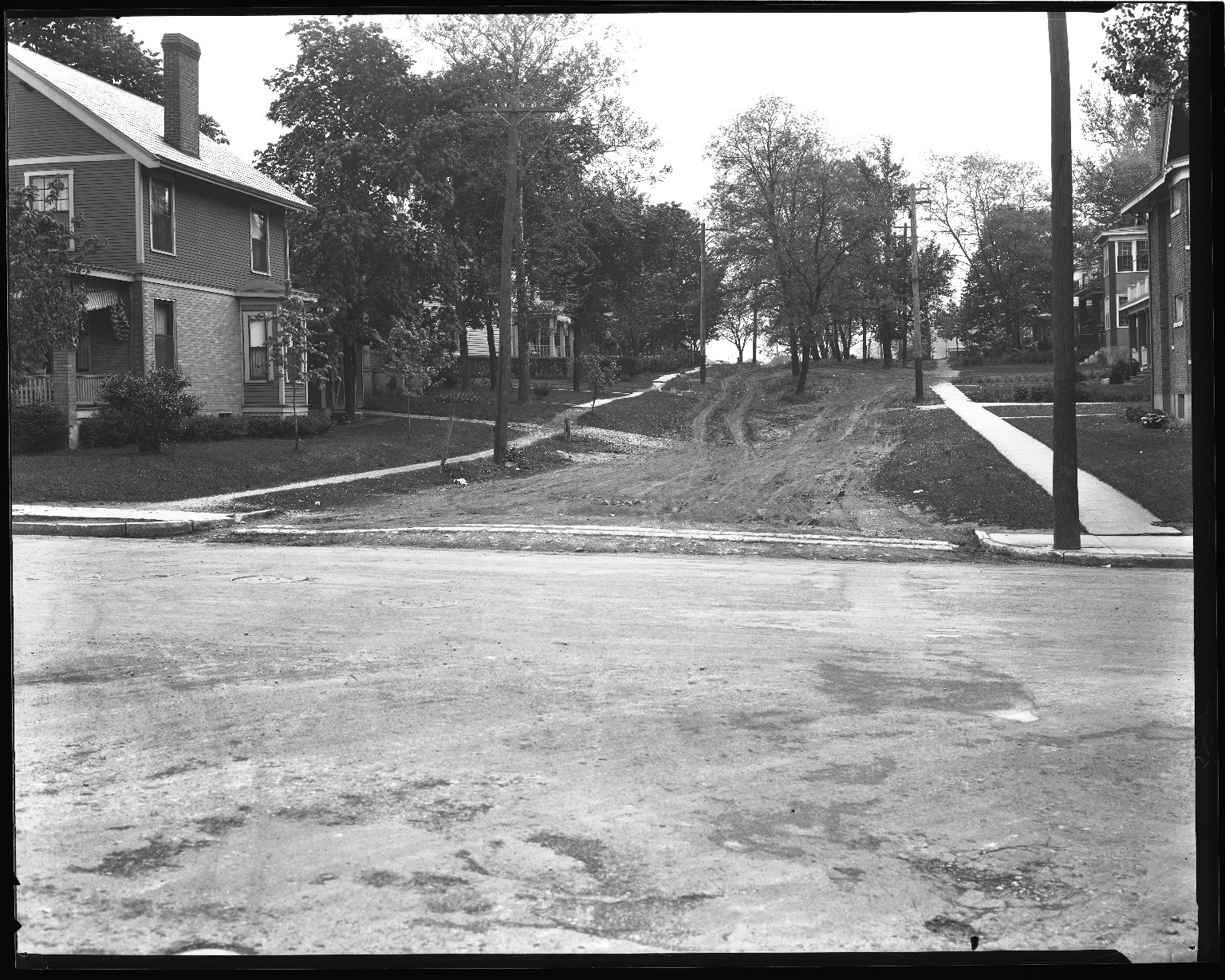 Street Improvement Photographs -- Box 43, Folder 08 (Paxton Avenue) -- negative, 1930
