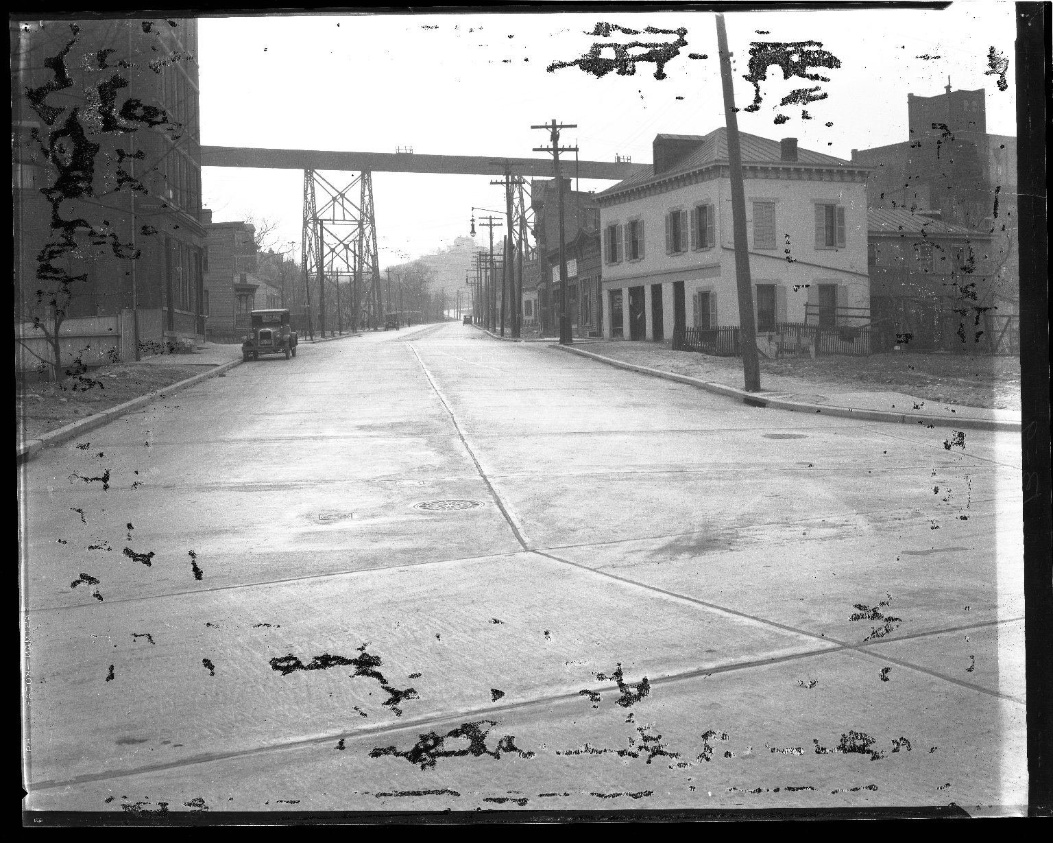 Street Improvement Photographs -- Box 43, Folder 30 (Quebec Road) -- negative, 1930