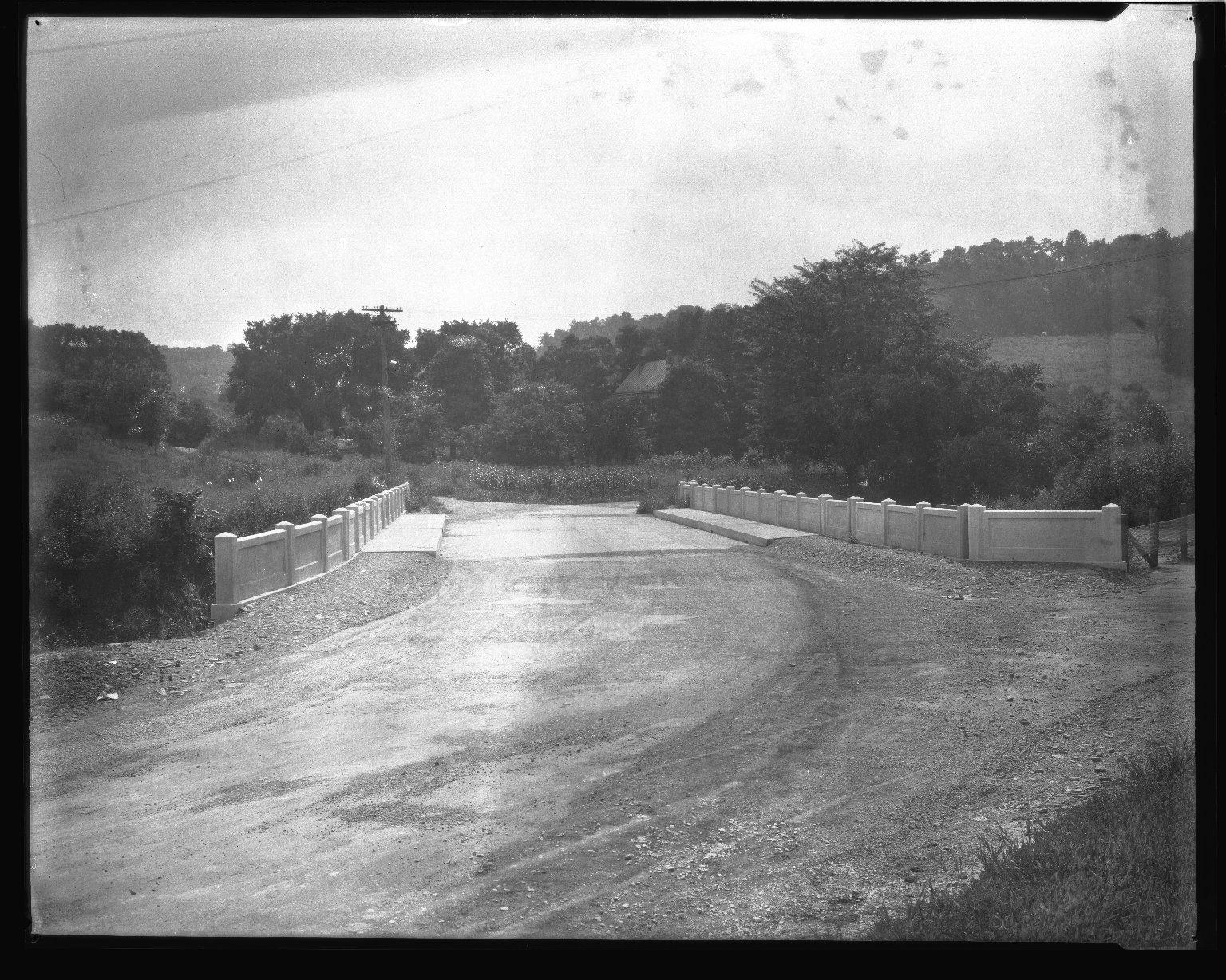 Street Improvement Photographs -- Box 43, Folder 53 (Red Bank Avenue Bridge) -- negative, 1928