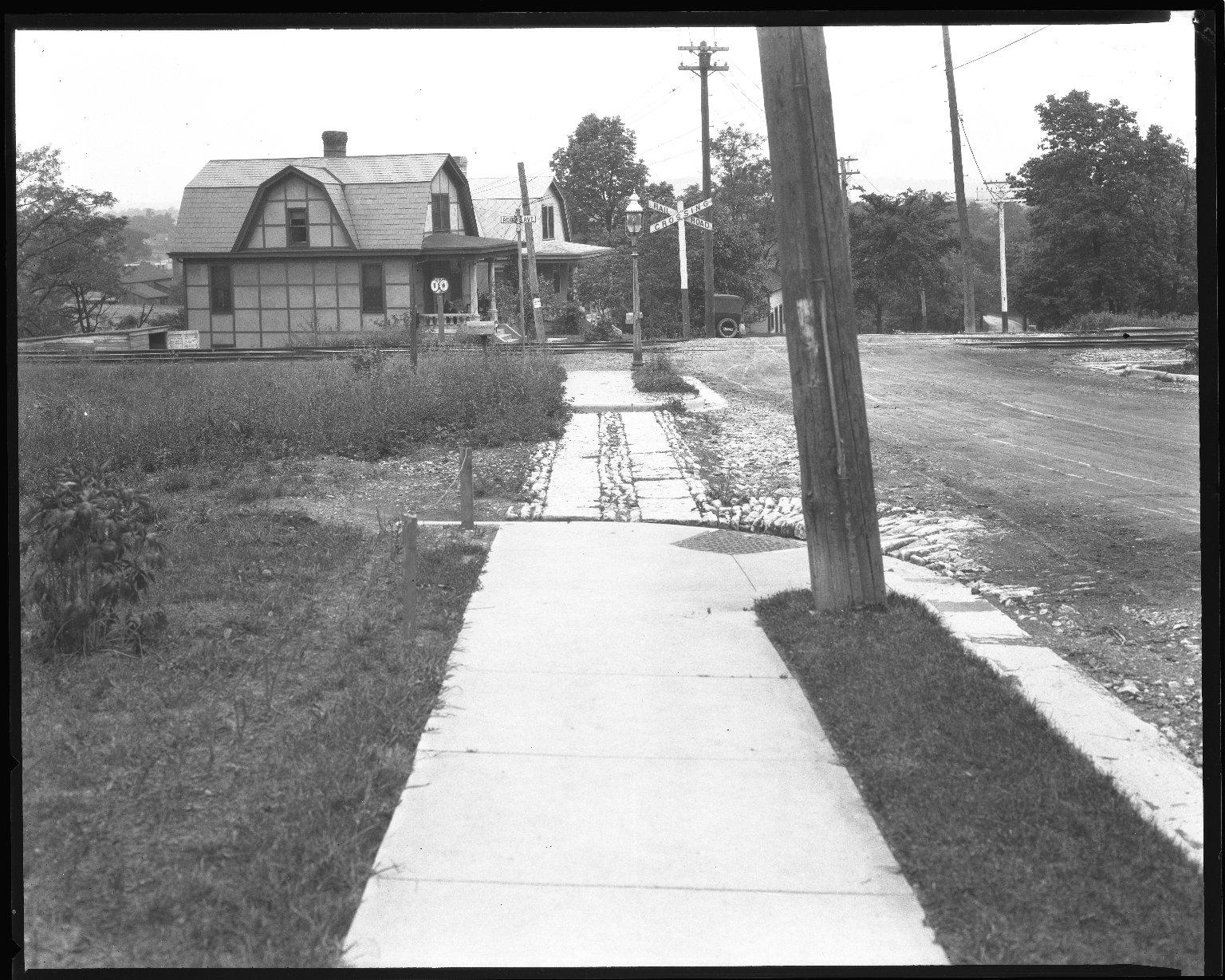 Street Improvement Photographs -- Box 44, Folder 04 (Ridge Avenue) -- negative, 1930