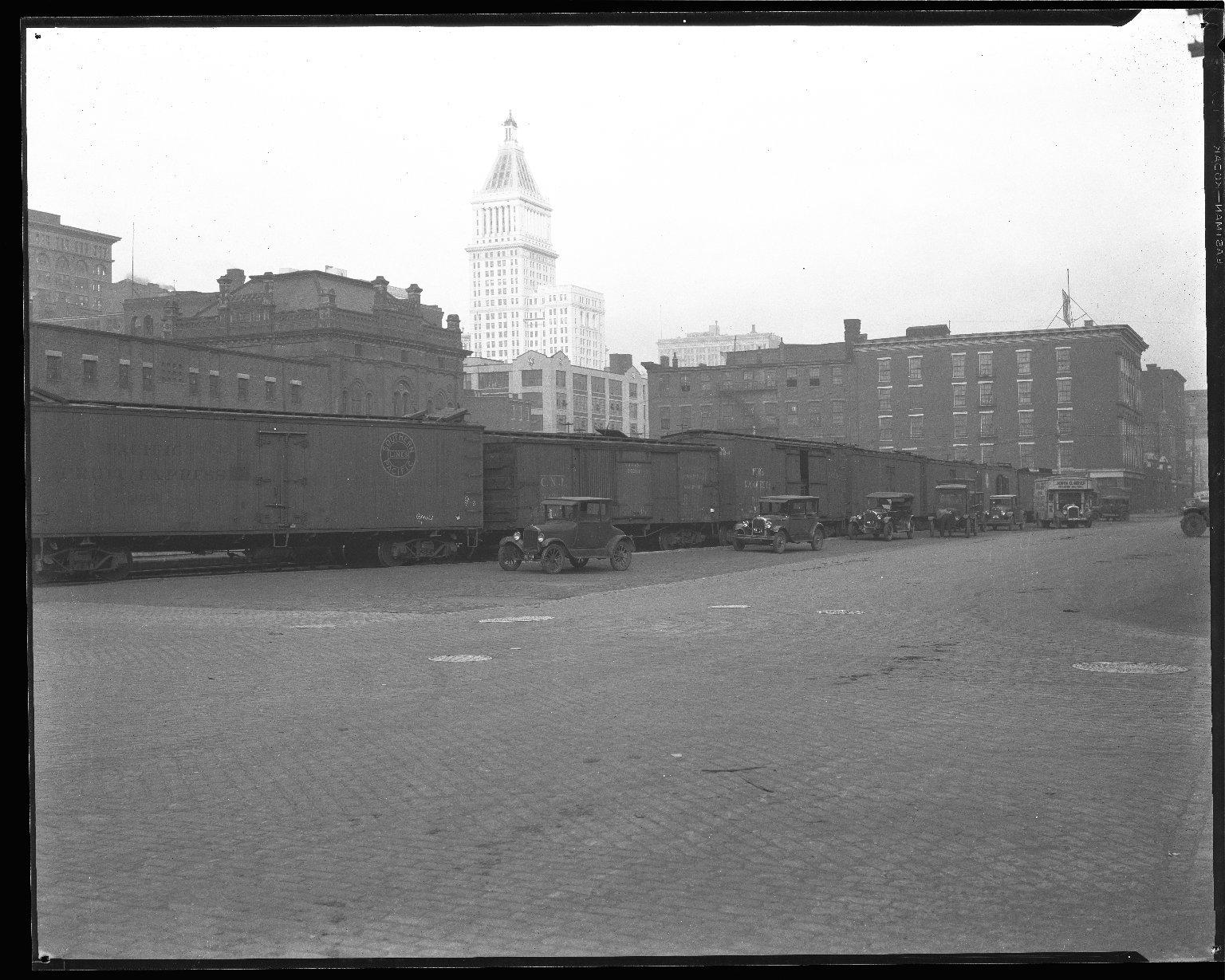 Street Improvement Photographs -- Box 44, Folder 38 (Second Street) -- negative, 1928