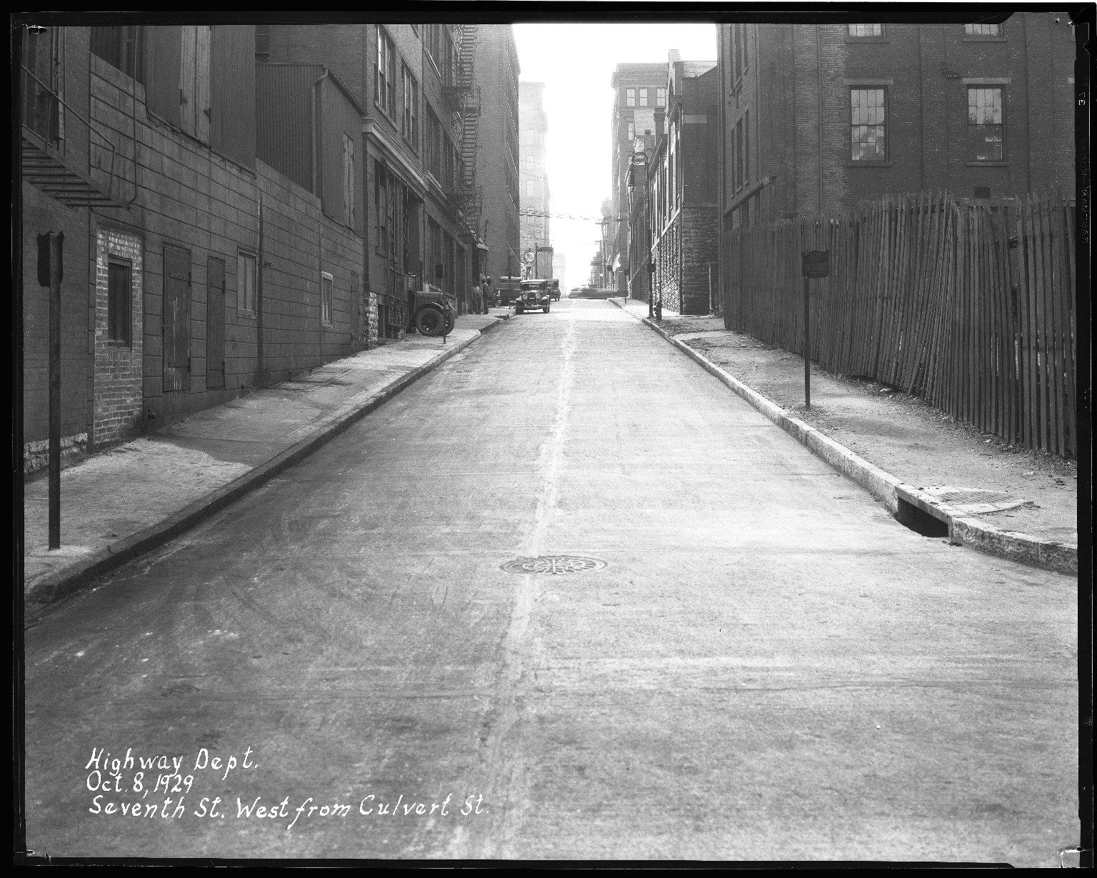 Street Improvement Photographs -- Box 44, Folder 46 (Seventh Street) -- negative, 1929-10-08