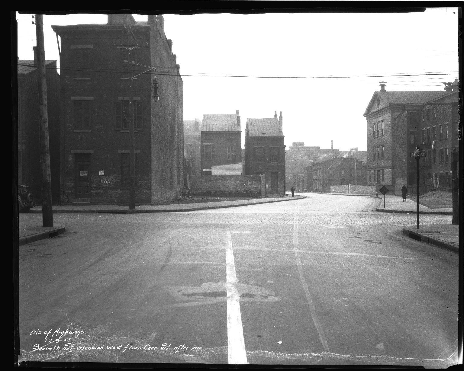 Street Improvement Photographs -- Box 44, Folder 46 (Seventh Street) -- negative, 1933-12-09