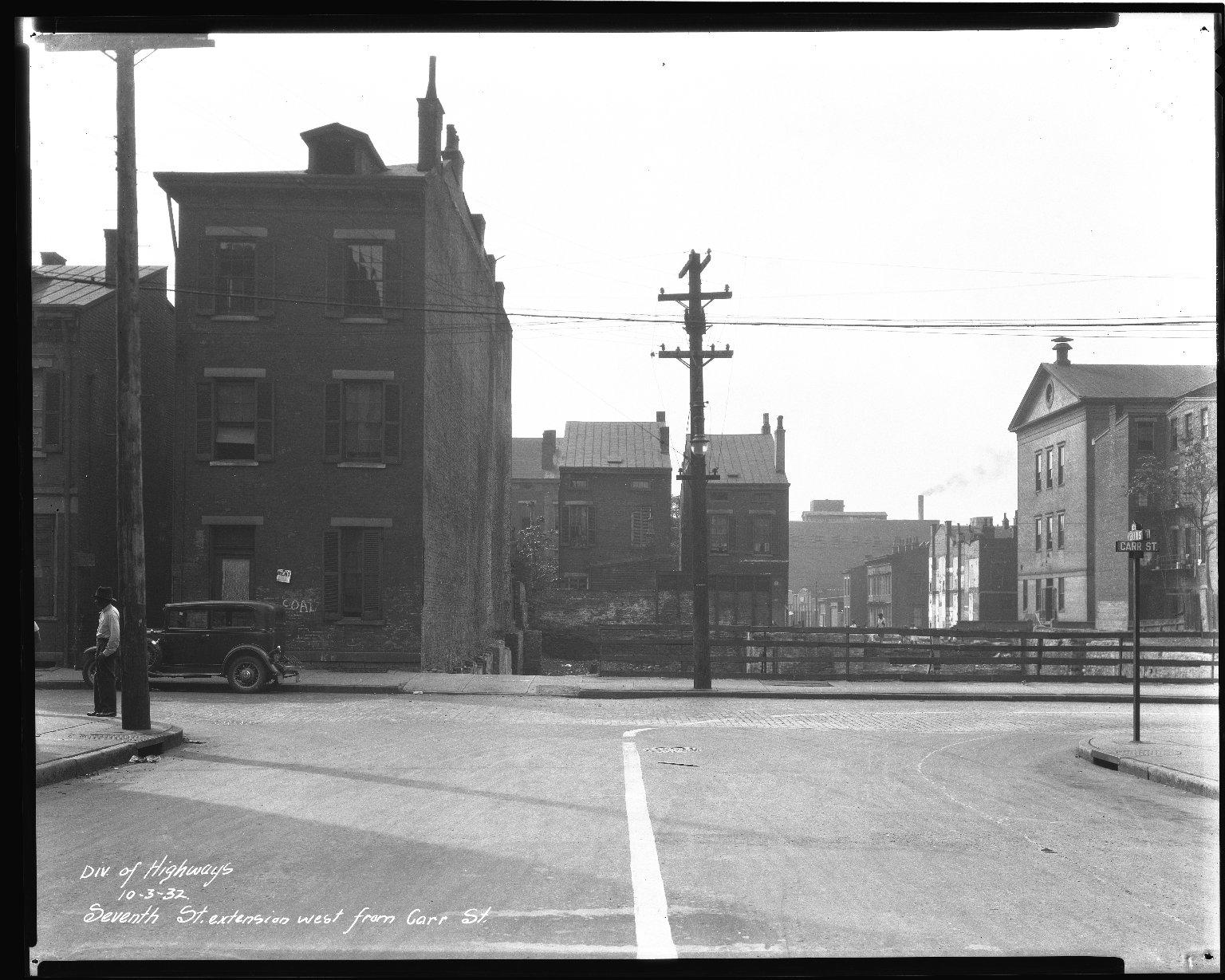 Street Improvement Photographs -- Box 44, Folder 46 (Seventh Street) -- negative, 1932-10-30