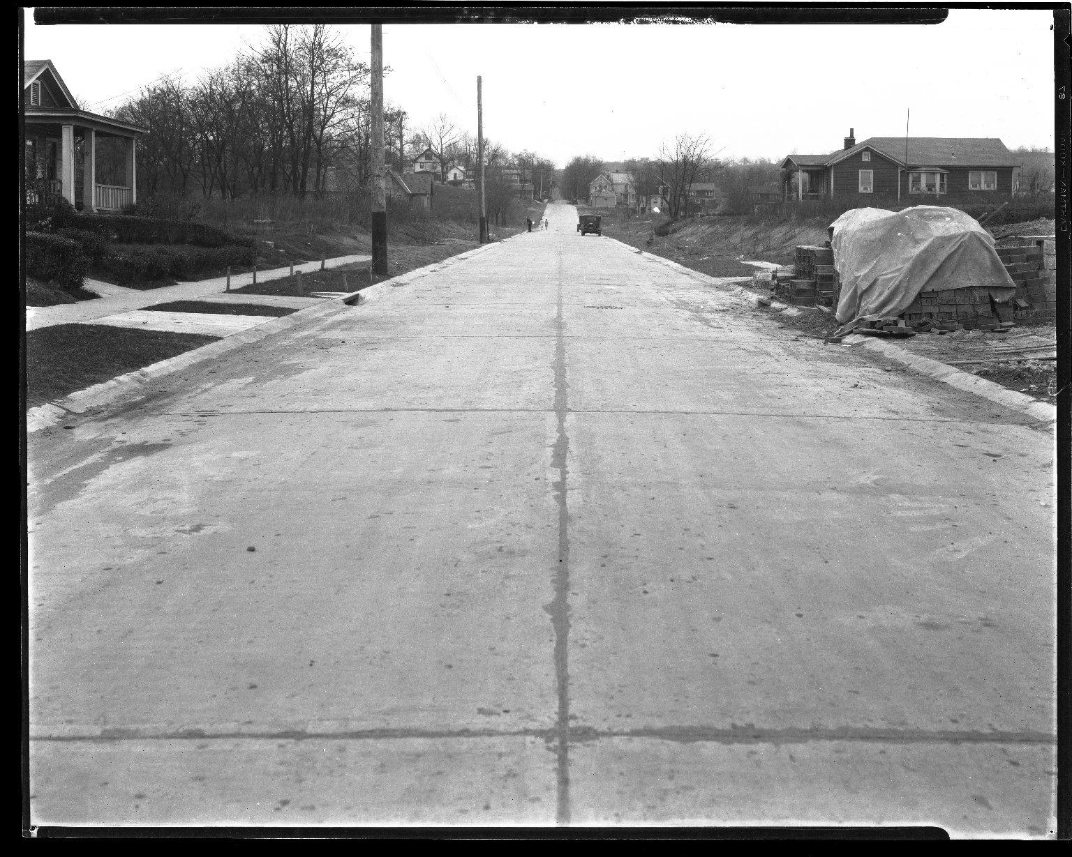 Street Improvement Photographs -- Box 44, Folder 63 (Simpson Avenue) -- negative, 1927