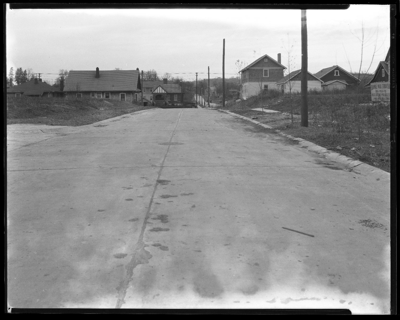 Street Improvement Photographs -- Box 44, Folder 63 (Simpson Avenue) -- negative, 1927